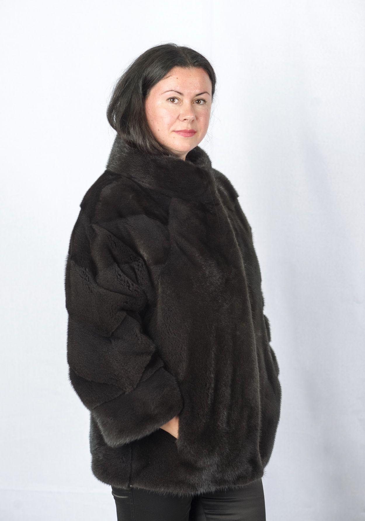 Шуба женская норковая 8951 фото №1