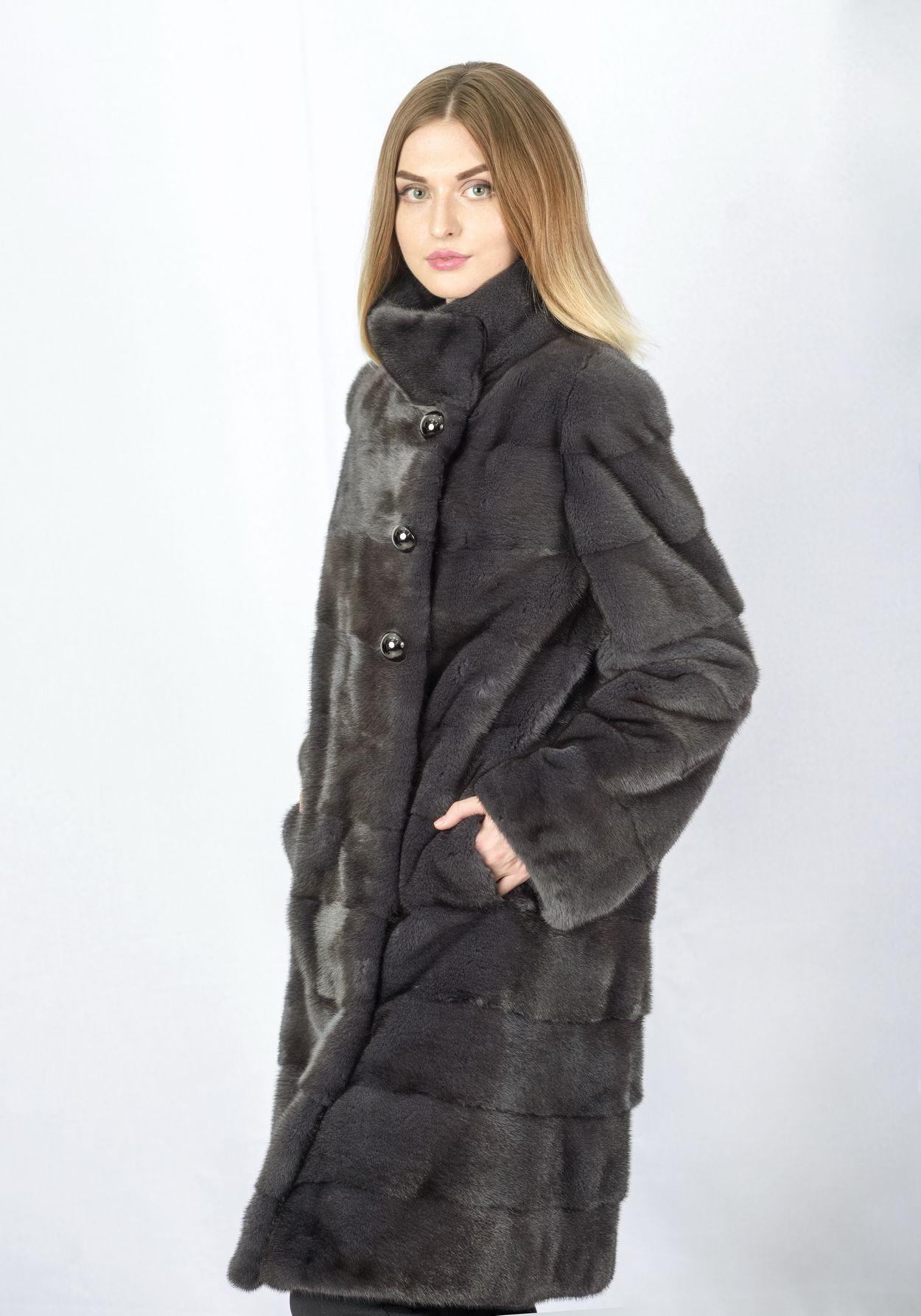 Шуба женская норковая 432 фото №1