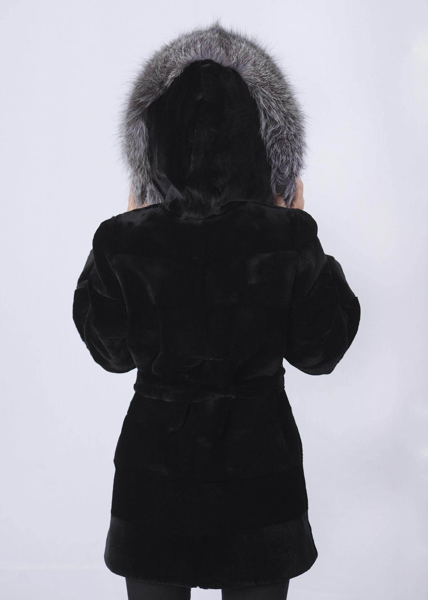 Шуба женская из бобрика(rex) 38784 фото №1