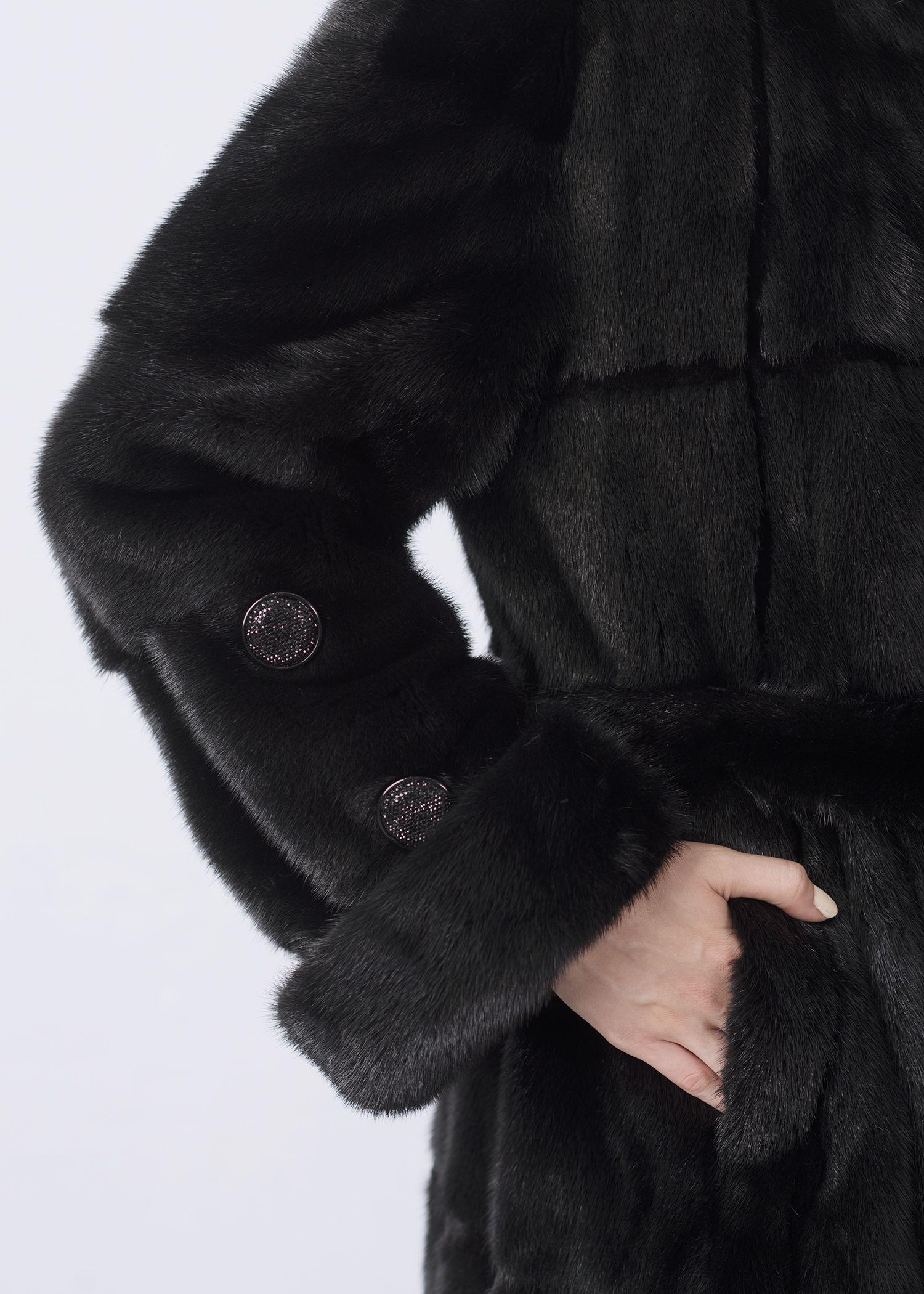 Шуба женская норковая 2-2536DO-120 фото №1