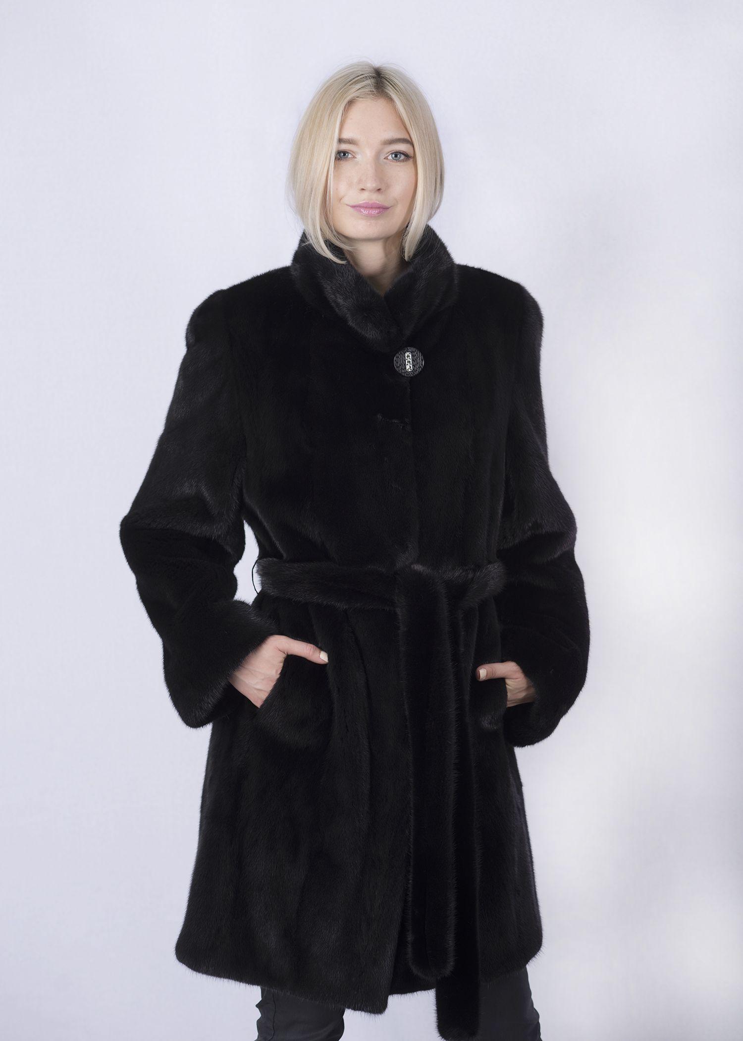 Шуба женская норковая 8801В фото №1