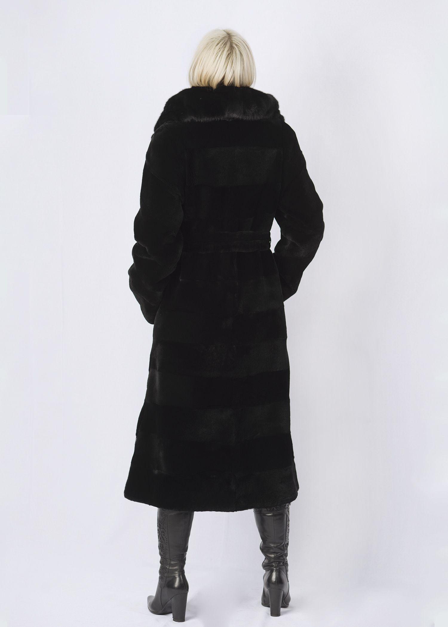 Шуба женская из бобрика(rex) ОА1257-1 фото №1