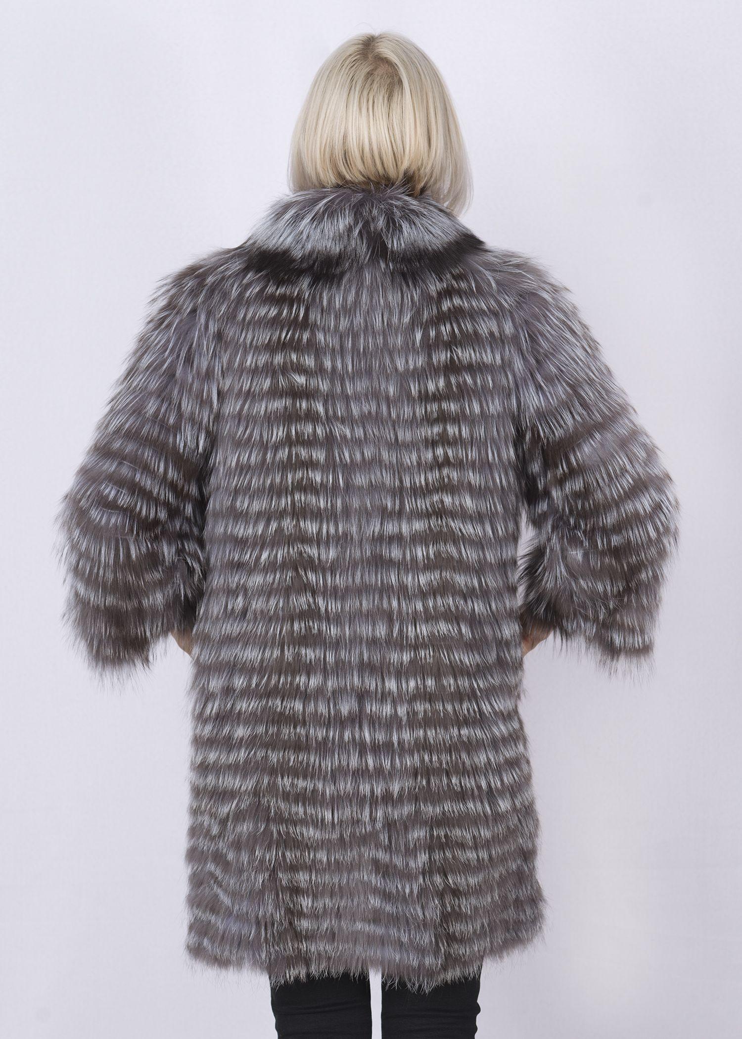 Кофта женская из меха лисы W-02YL фото №1