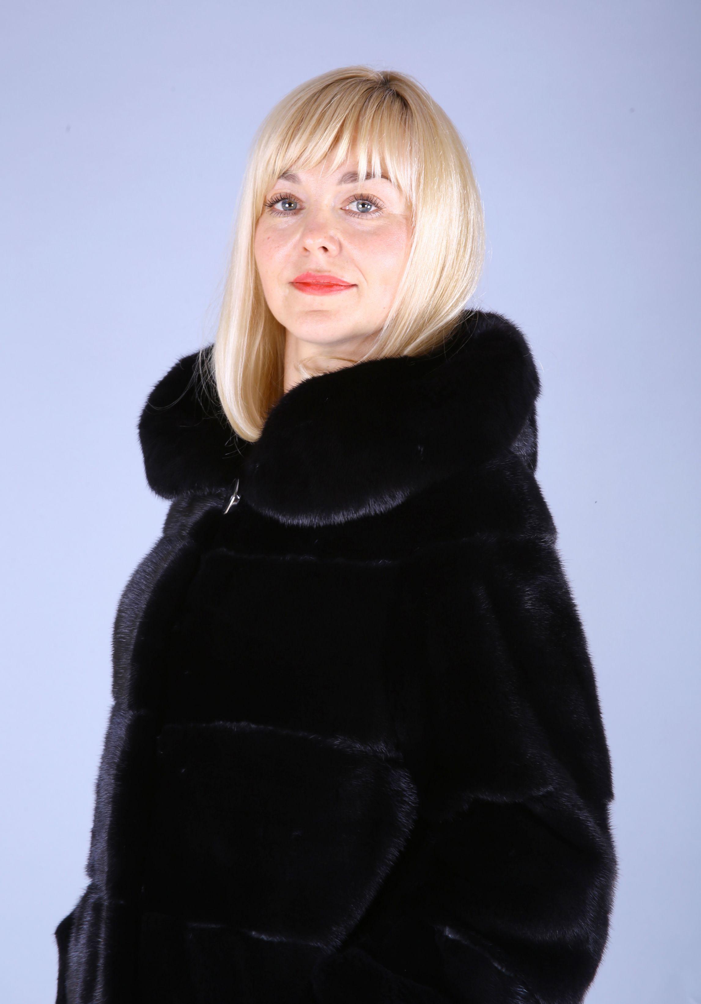 Шуба женская норковая 7542 фото №1