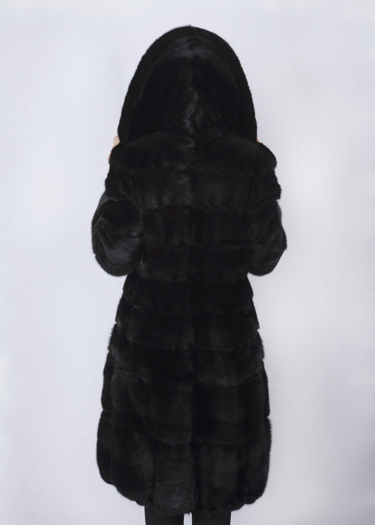 Шуба женская норковая 821093 фото №1