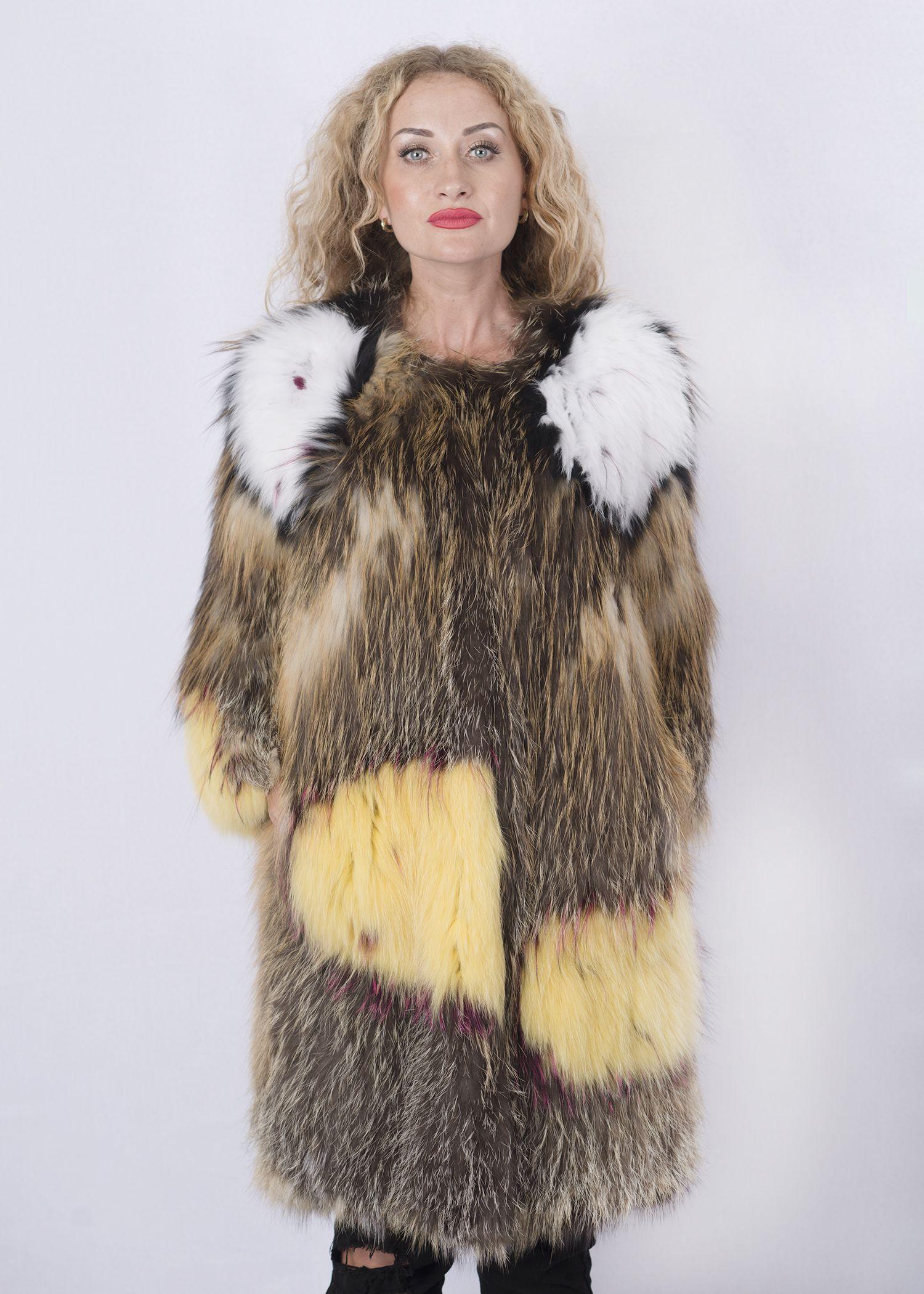Кофта женская из меха лисы FOX-004 фото №1