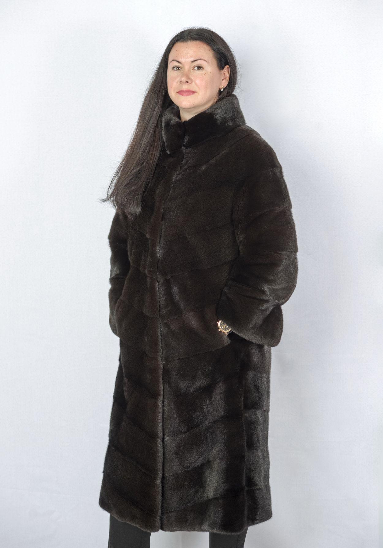 Шуба женская норковая 9854 фото №1