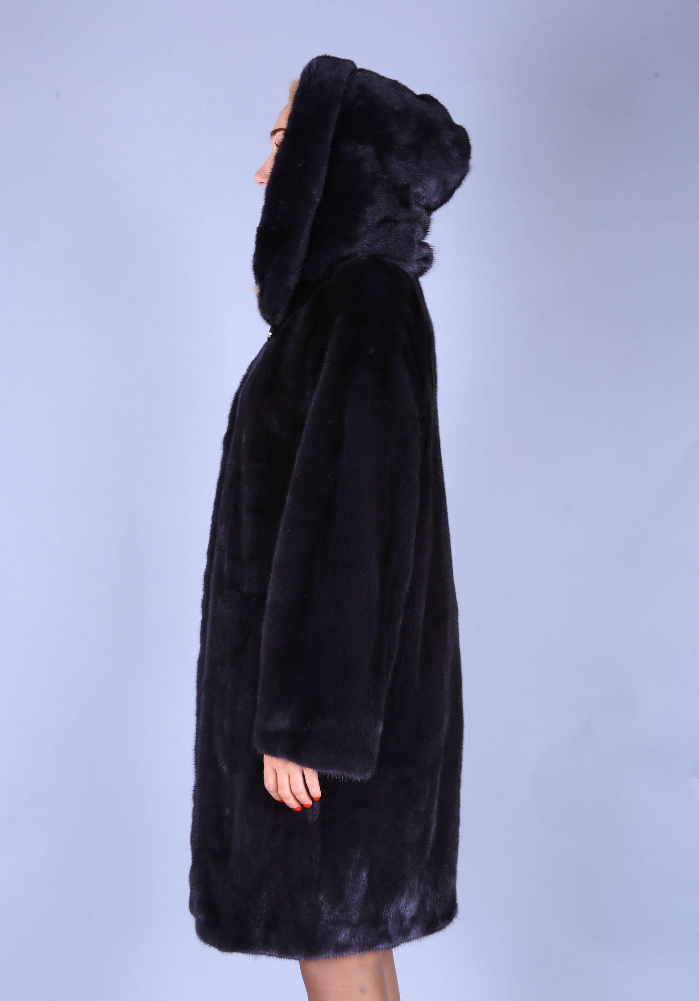 Шуба женская норковая 7482 фото №1