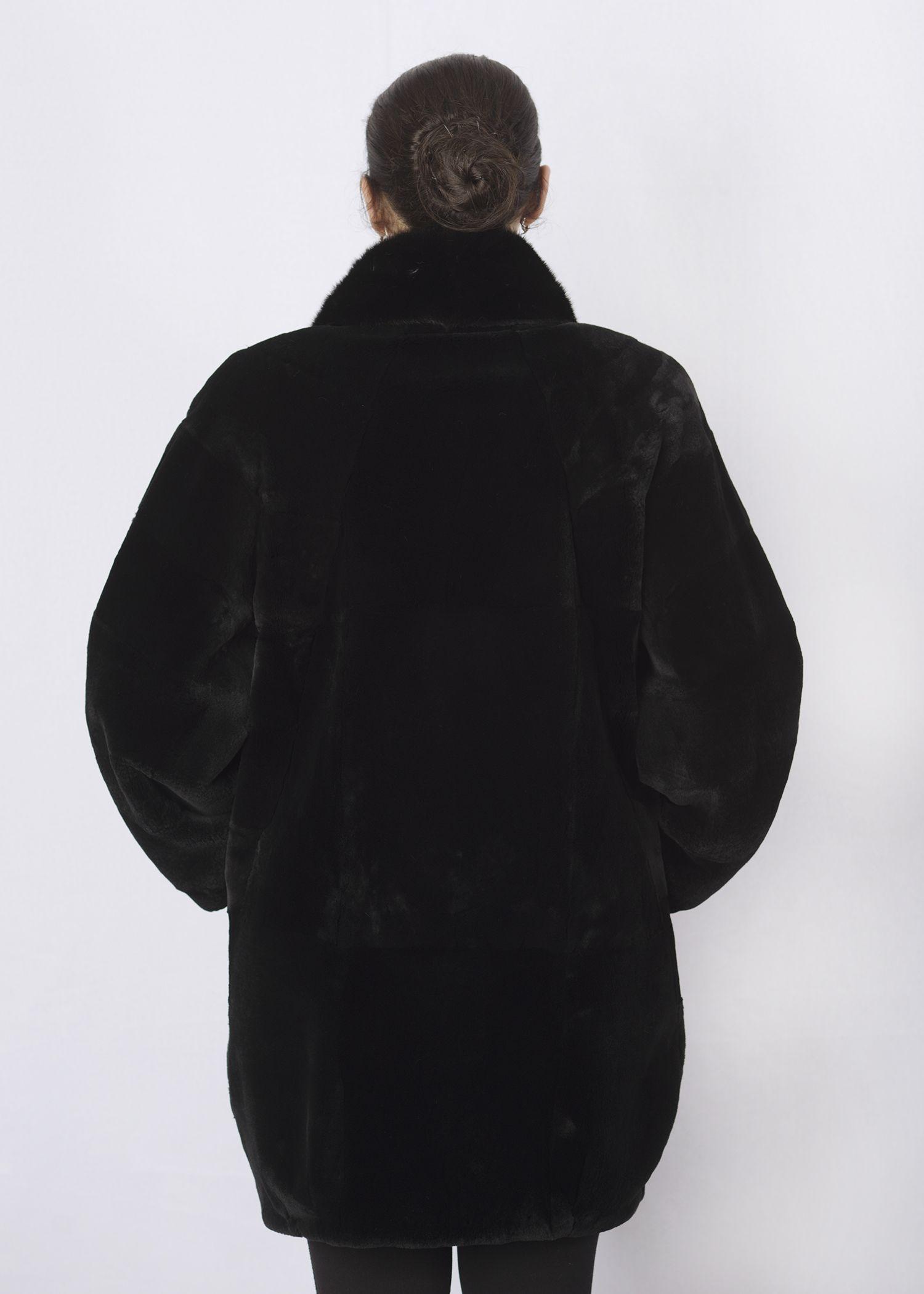 Шуба женская из бобрика(rex) WT06803 фото №1