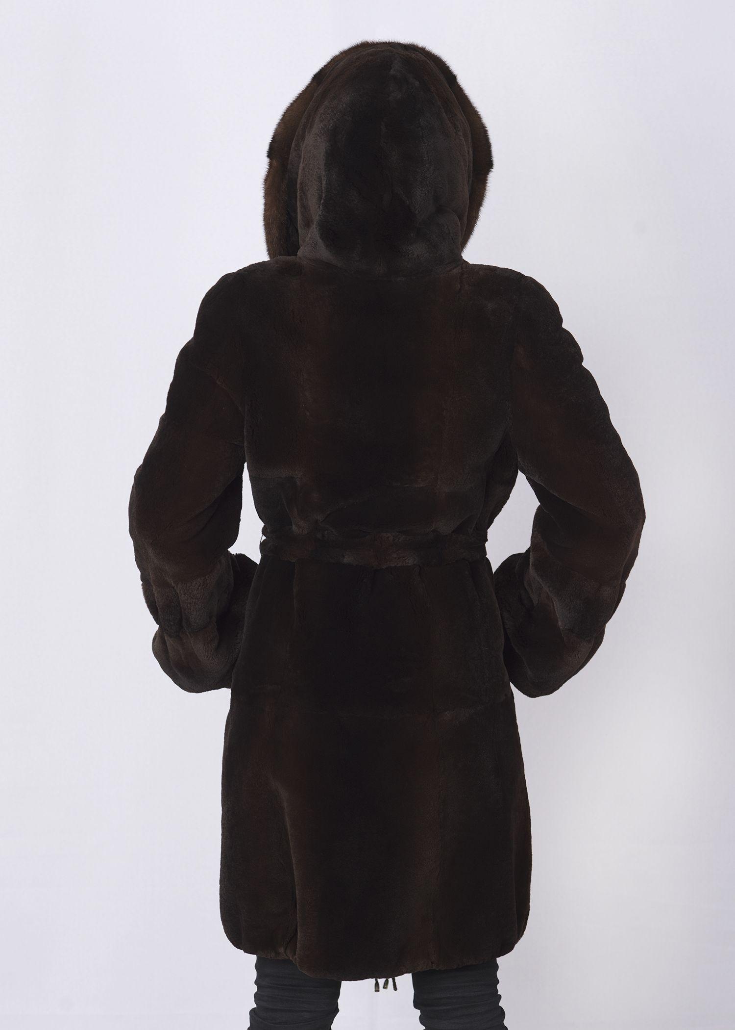Шуба женская из бобрика(rex) 125131 фото №1