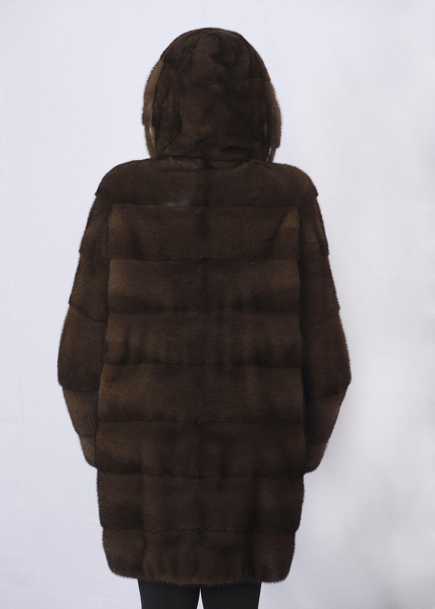 Шуба женская норковая 9316 фото №1