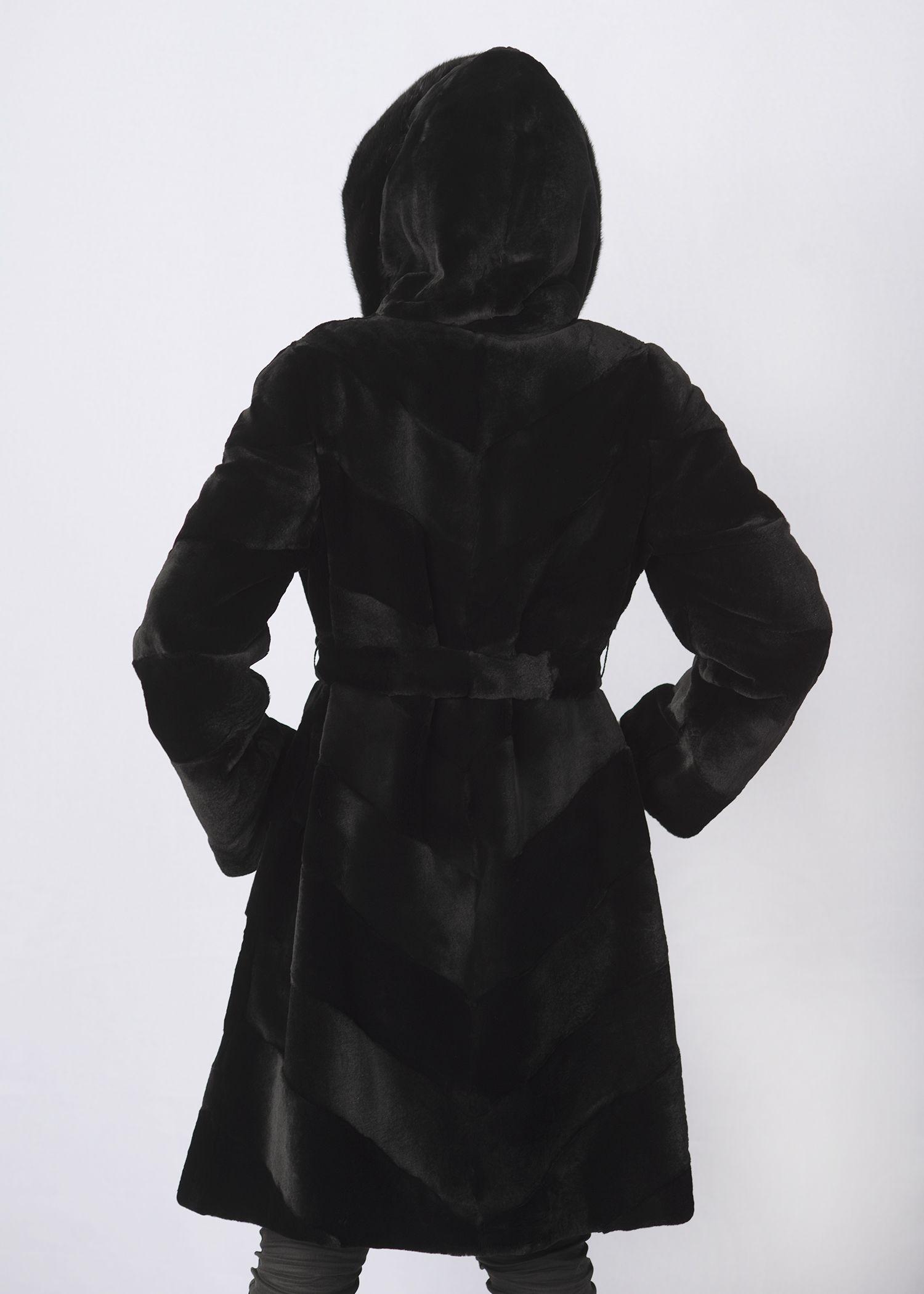 Шуба женская из бобрика(rex) 300578 фото №1