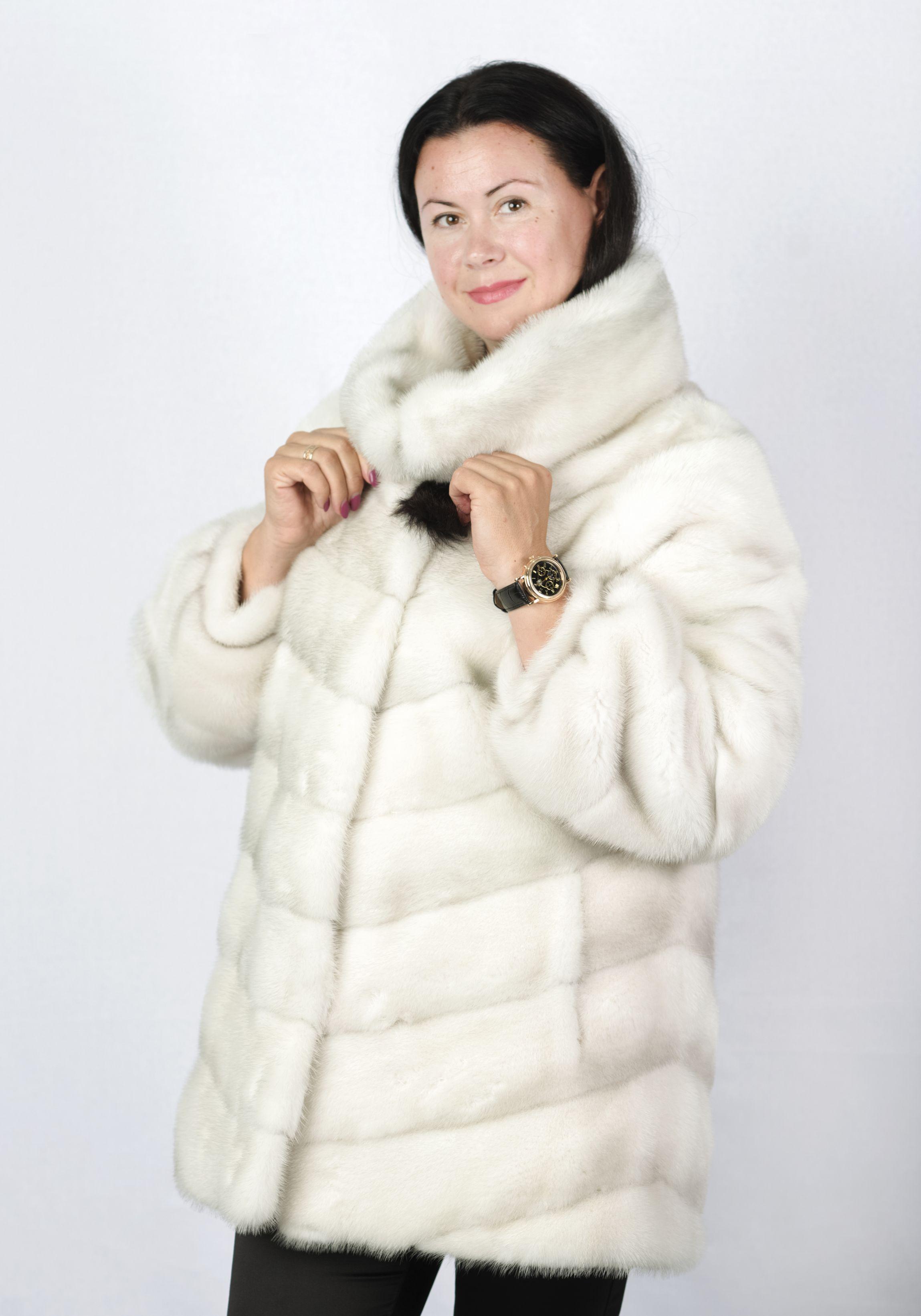Шуба женская норковая 8P41 фото №1