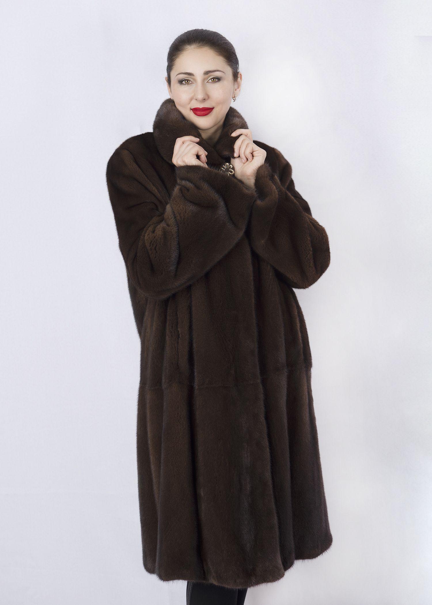 Шуба женская норковая 02-3CP-В фото №1