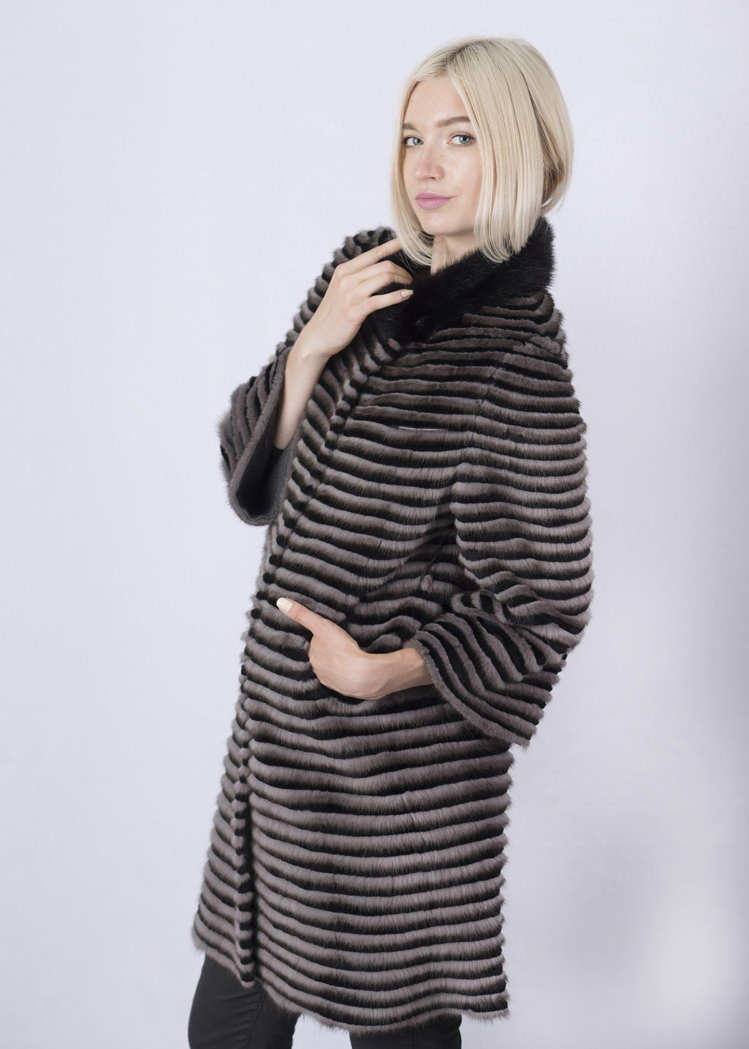 Кофта женская из меха норки w-02D фото №1