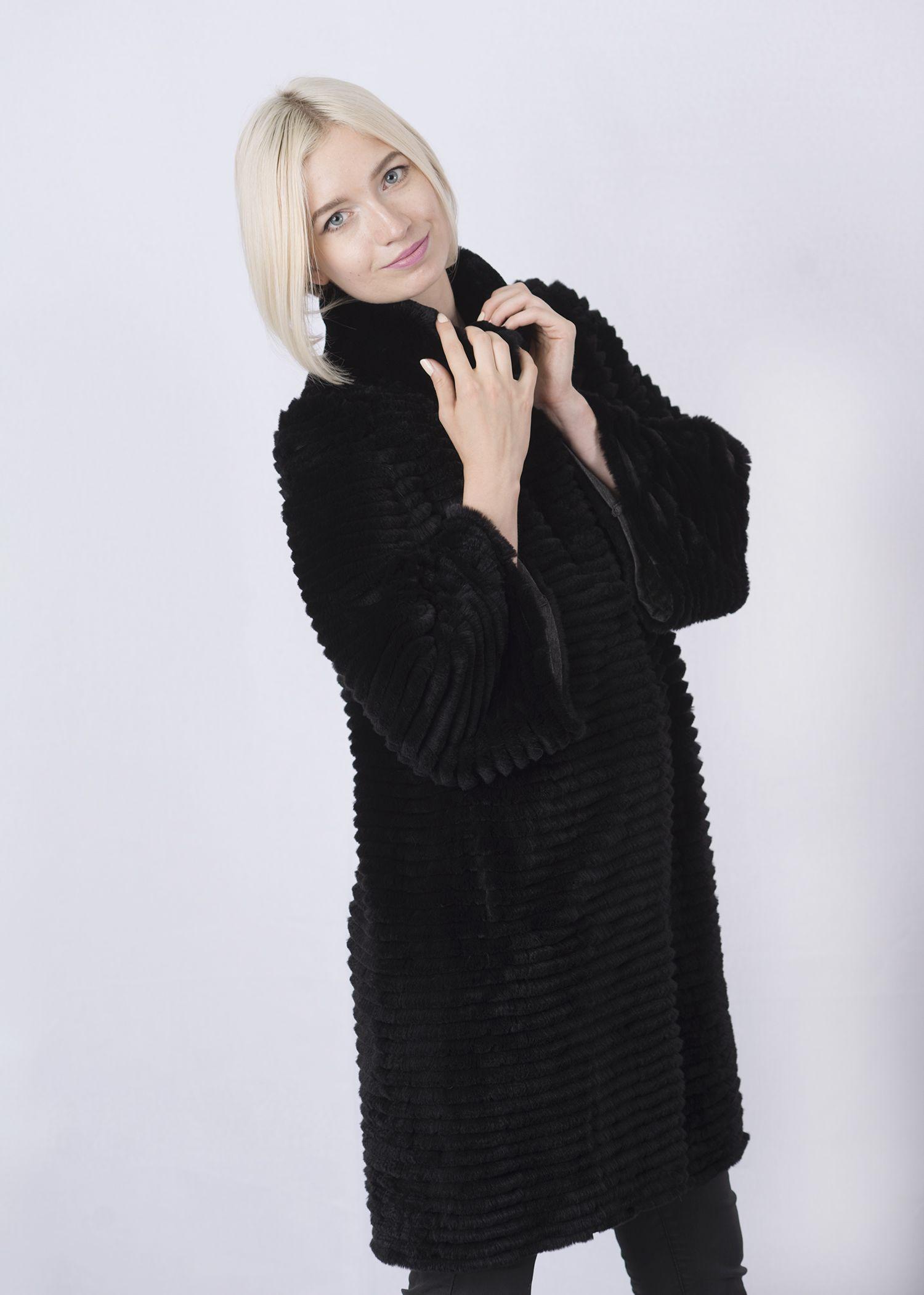 Кофта женская из меха рекса w-02В фото №1
