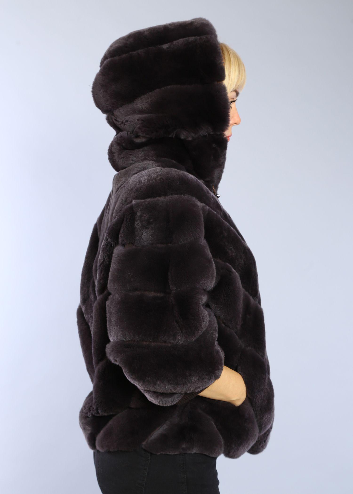 Шуба женская из бобрика(rex) 1523-1M фото №1