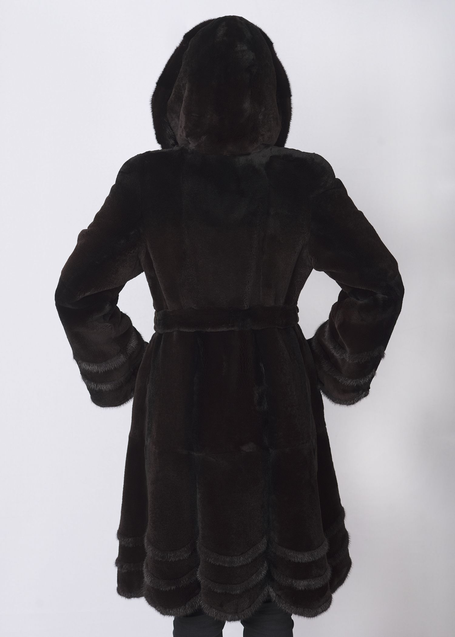Шуба женская из бобрика(rex) 456612 фото №1
