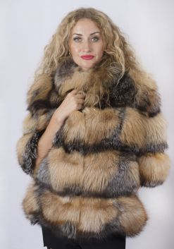 Шуба женская из лисы- 65