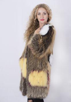 Кофта женская из меха лисы FOX-004