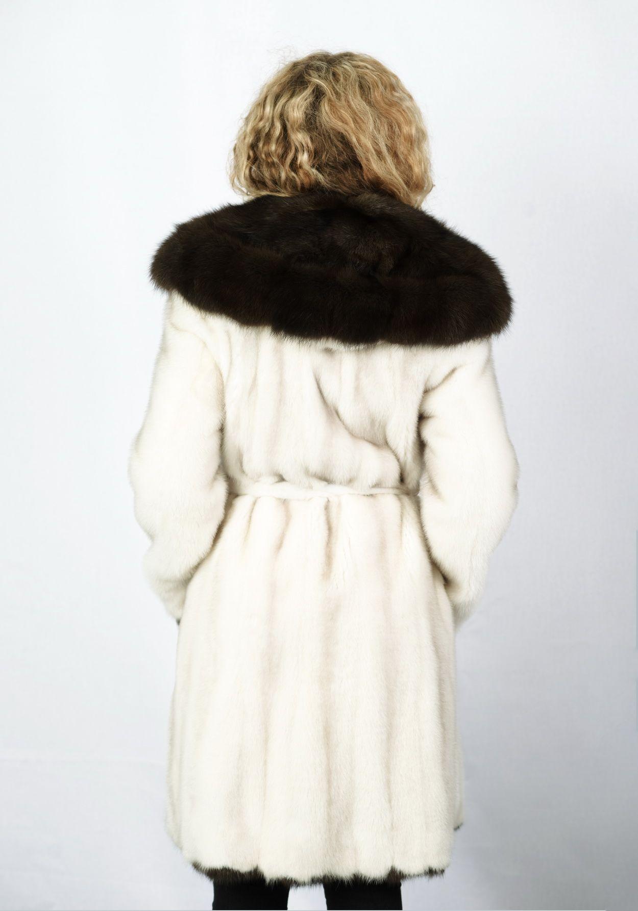 Шуба женская норковая 70135 фото №1