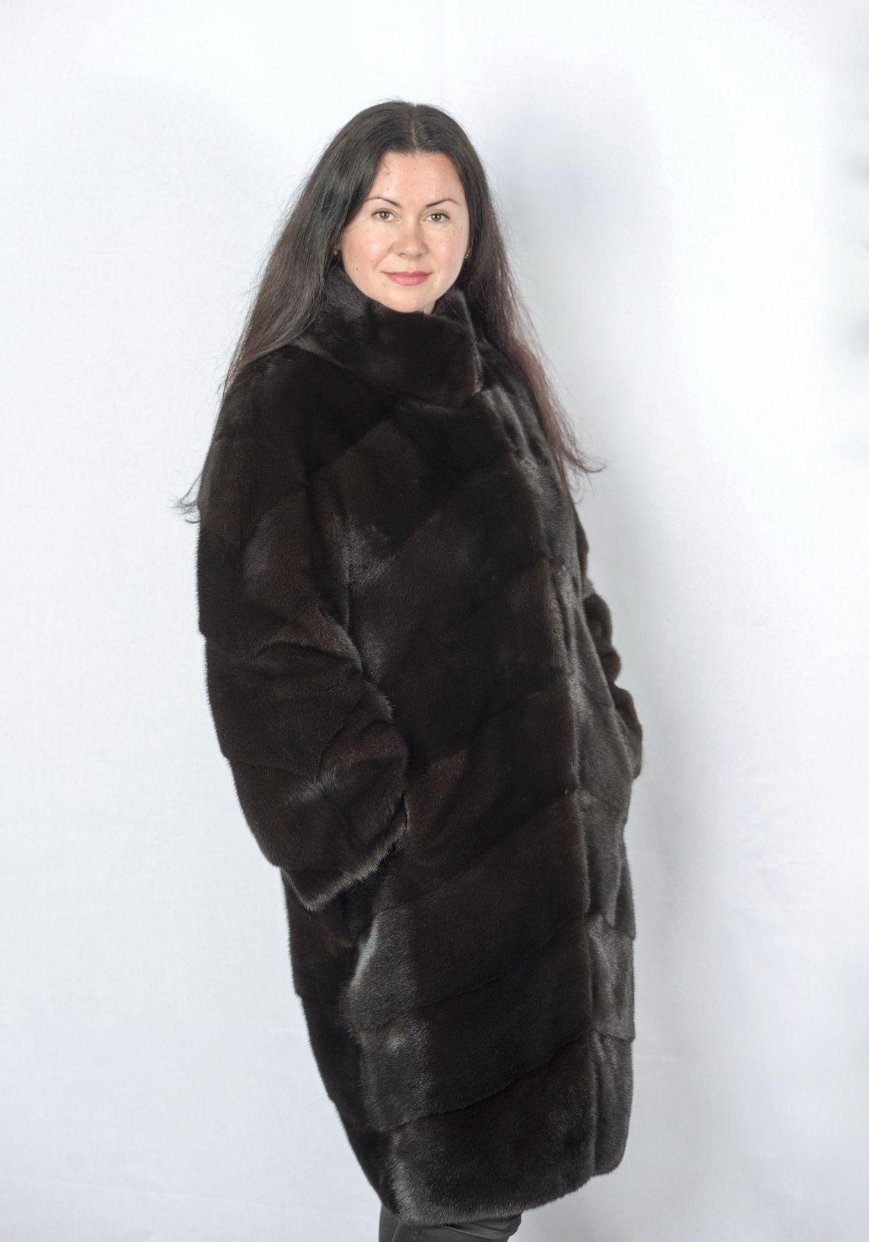 Шуба женская норковая 2764 фото №1