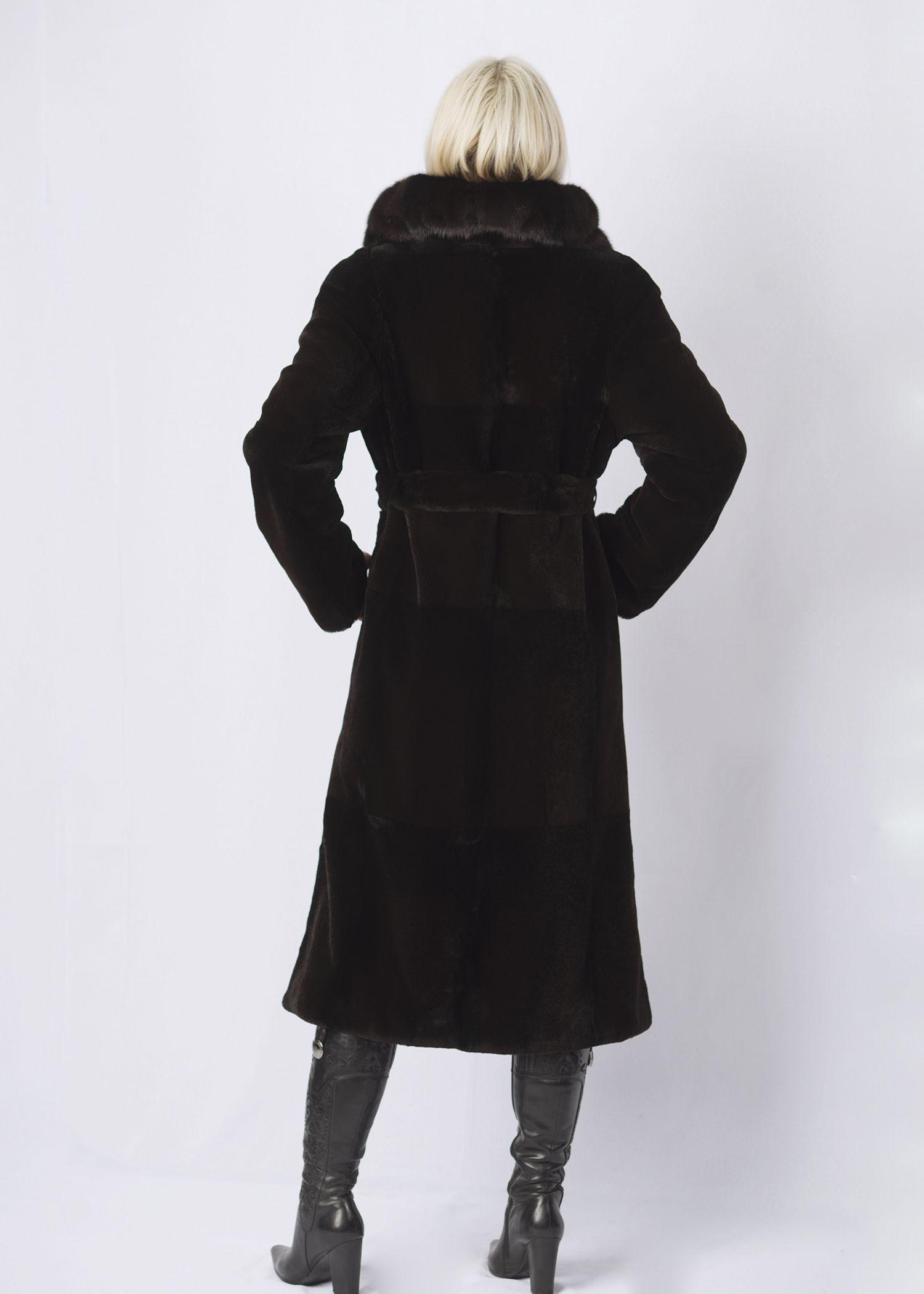 Шуба женская из бобрика(rex) ОА1258-B фото №1