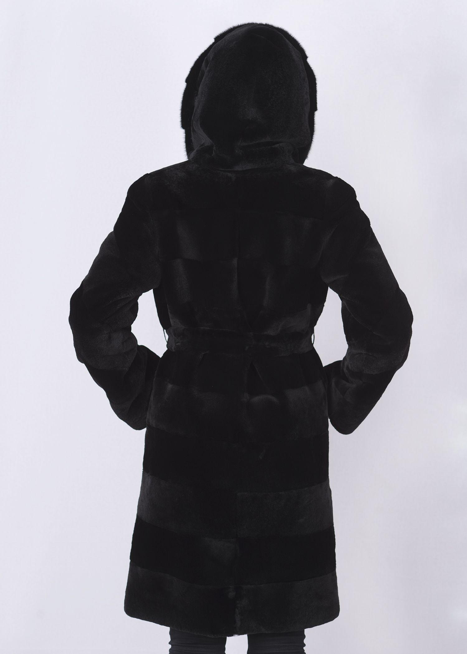 Шуба женская из бобрика(rex) 203051 фото №1