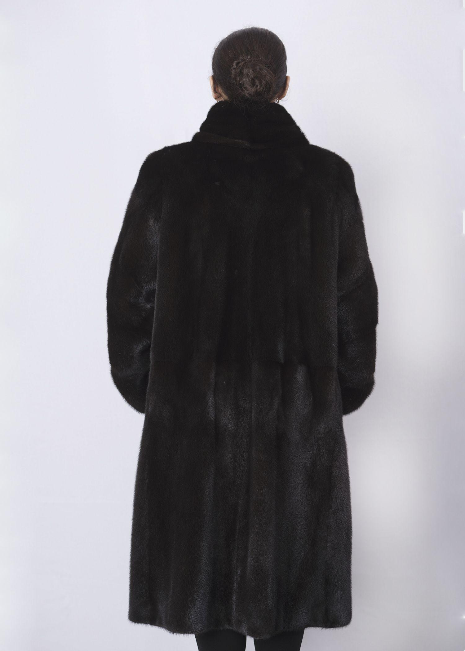 Шуба женская норковая 8932 фото №1