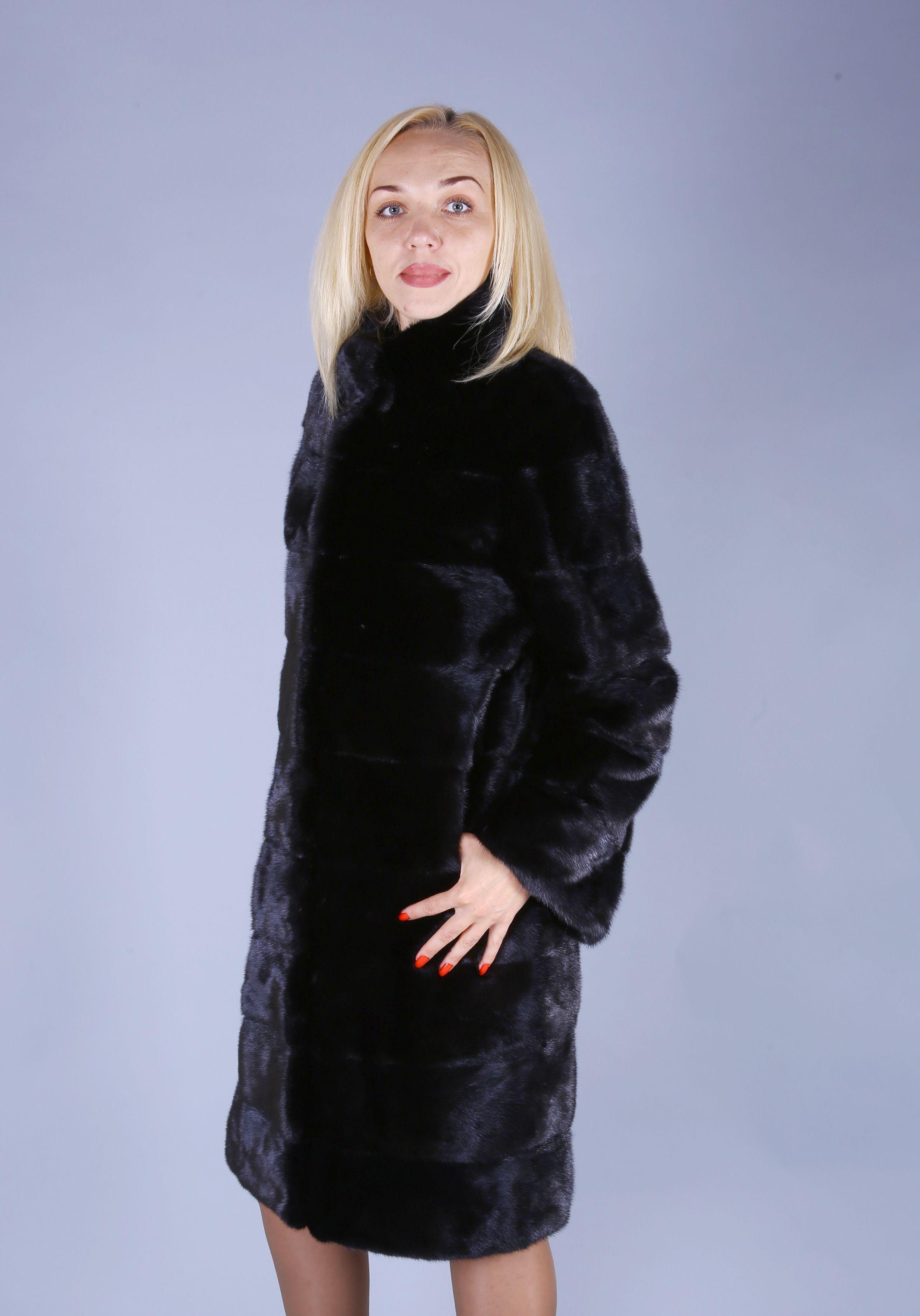 Шуба женская норковая 7546 фото №1