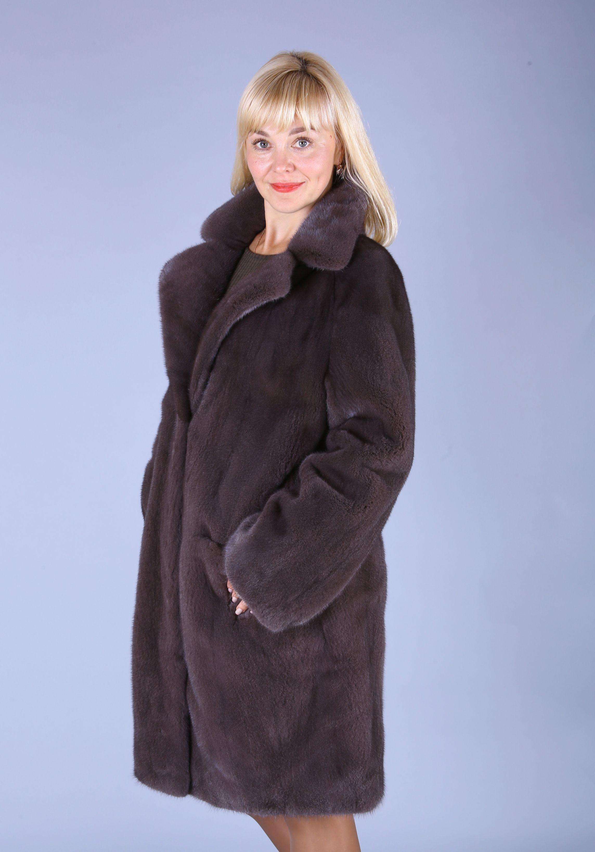 Шуба женская норковая 7502 фото №1