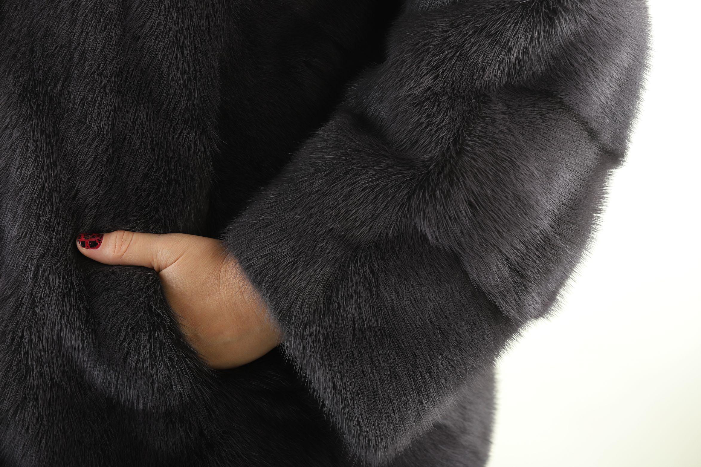 Шуба женская норковая 161033 фото №1