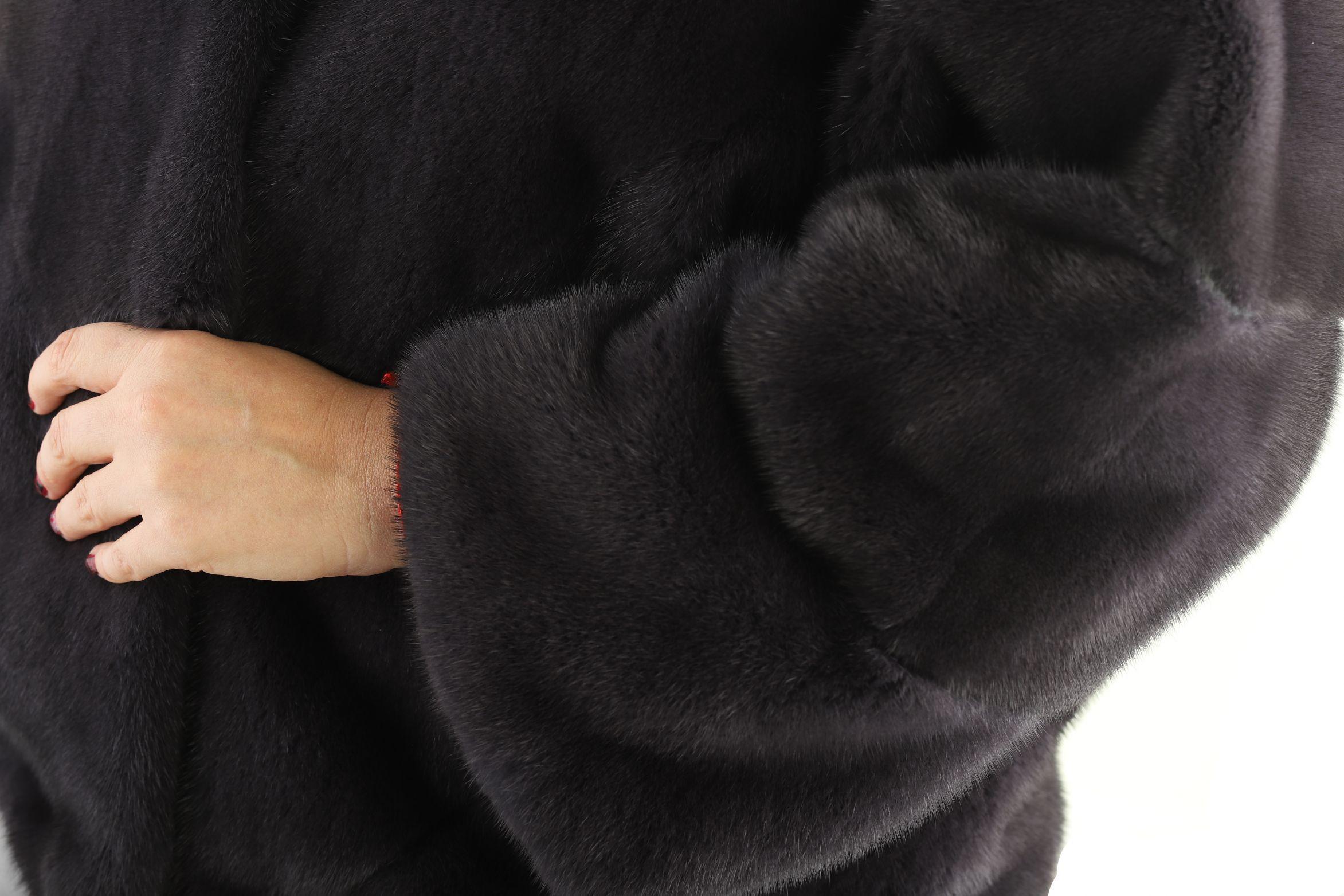 Шуба женская норковая 12196 фото №1