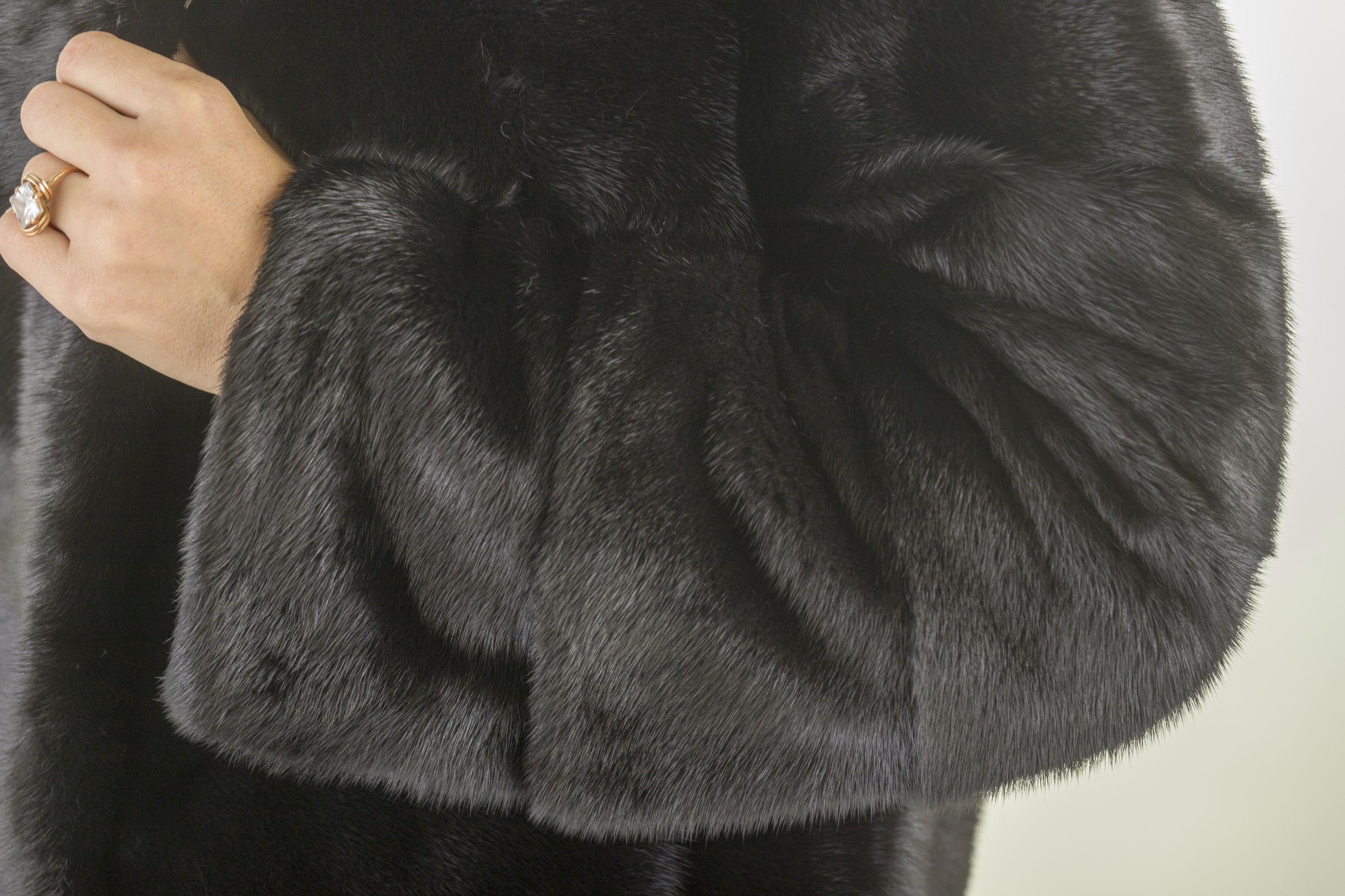 Шуба женская норковая 12218 фото №1