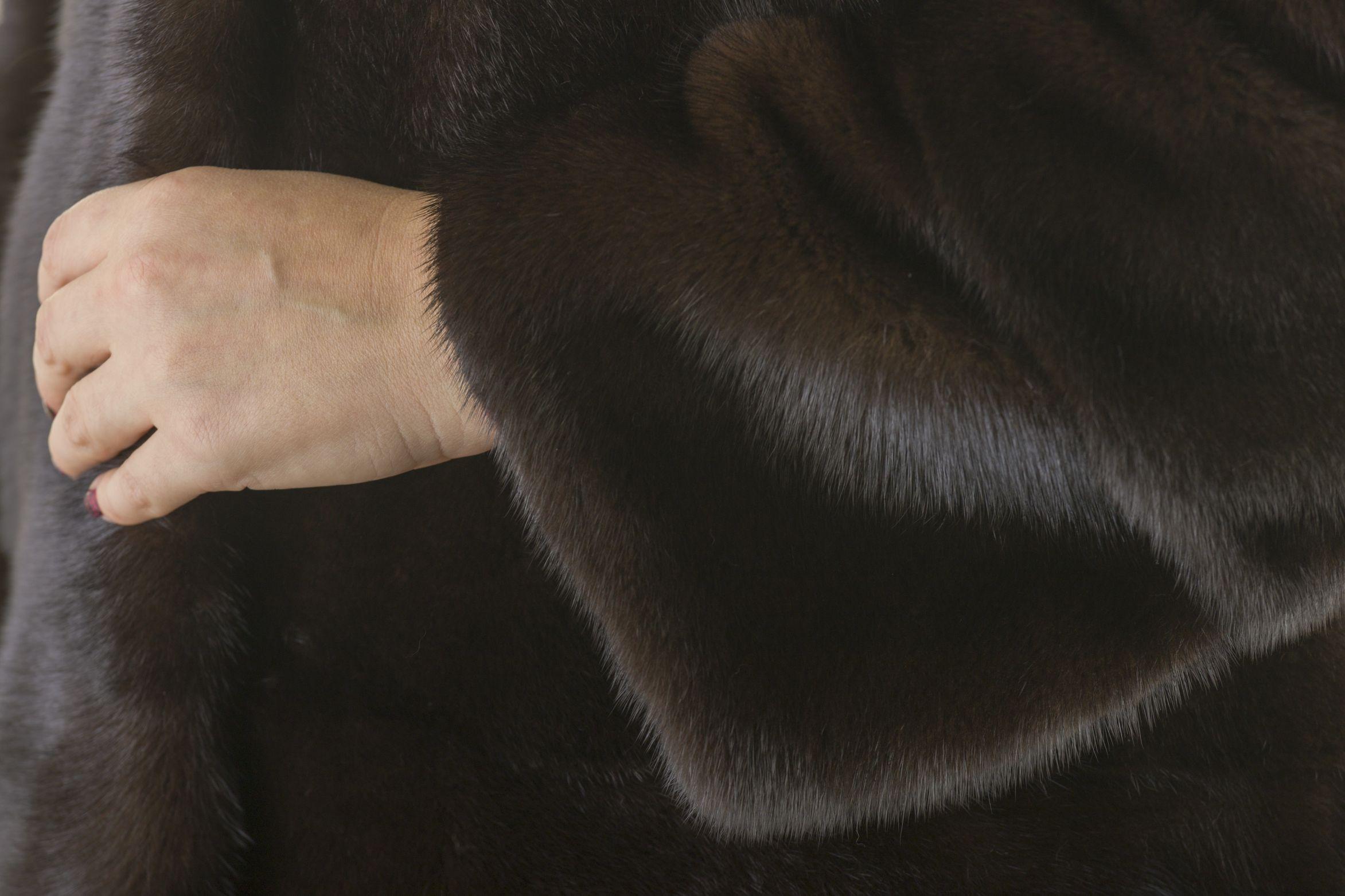 Шуба женская норковая 12226 фото №1