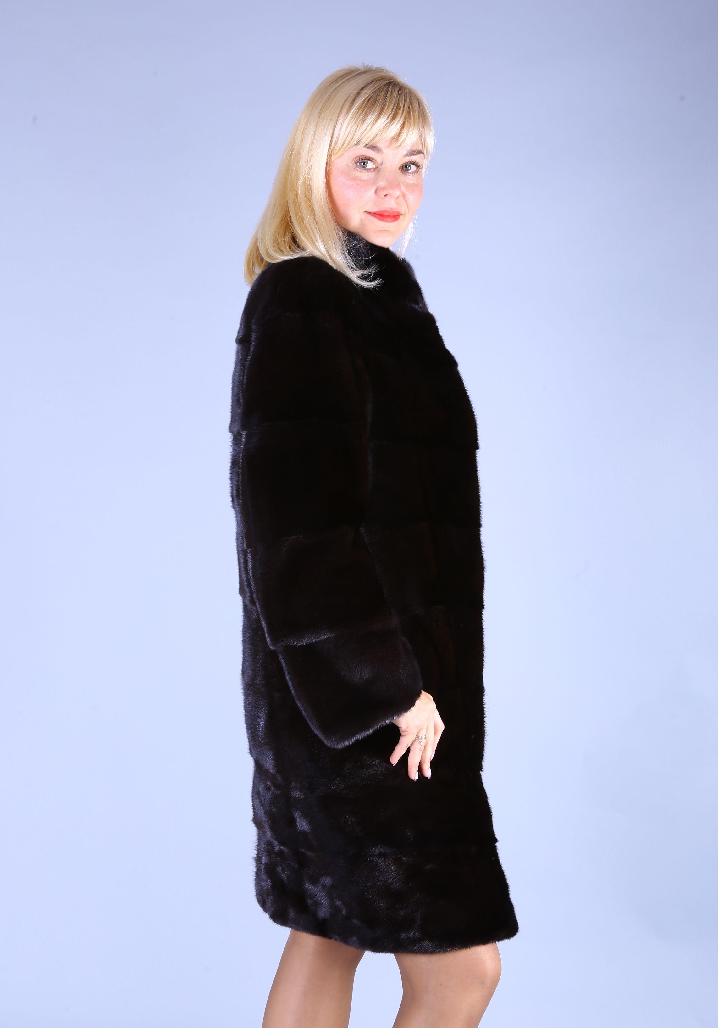 Шуба женская норковая 7566 фото №1