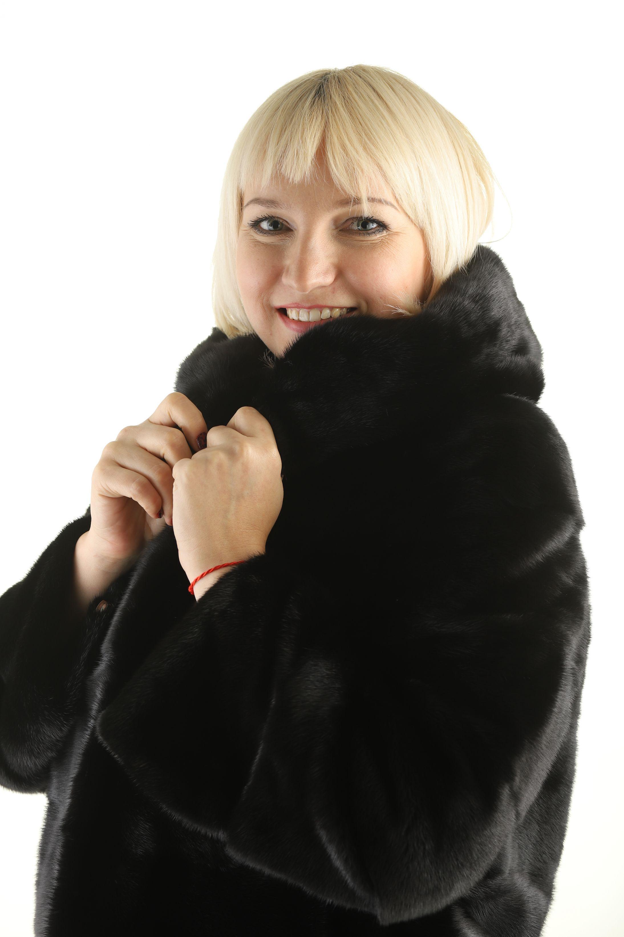 Шуба женская норковая 12211 фото №1