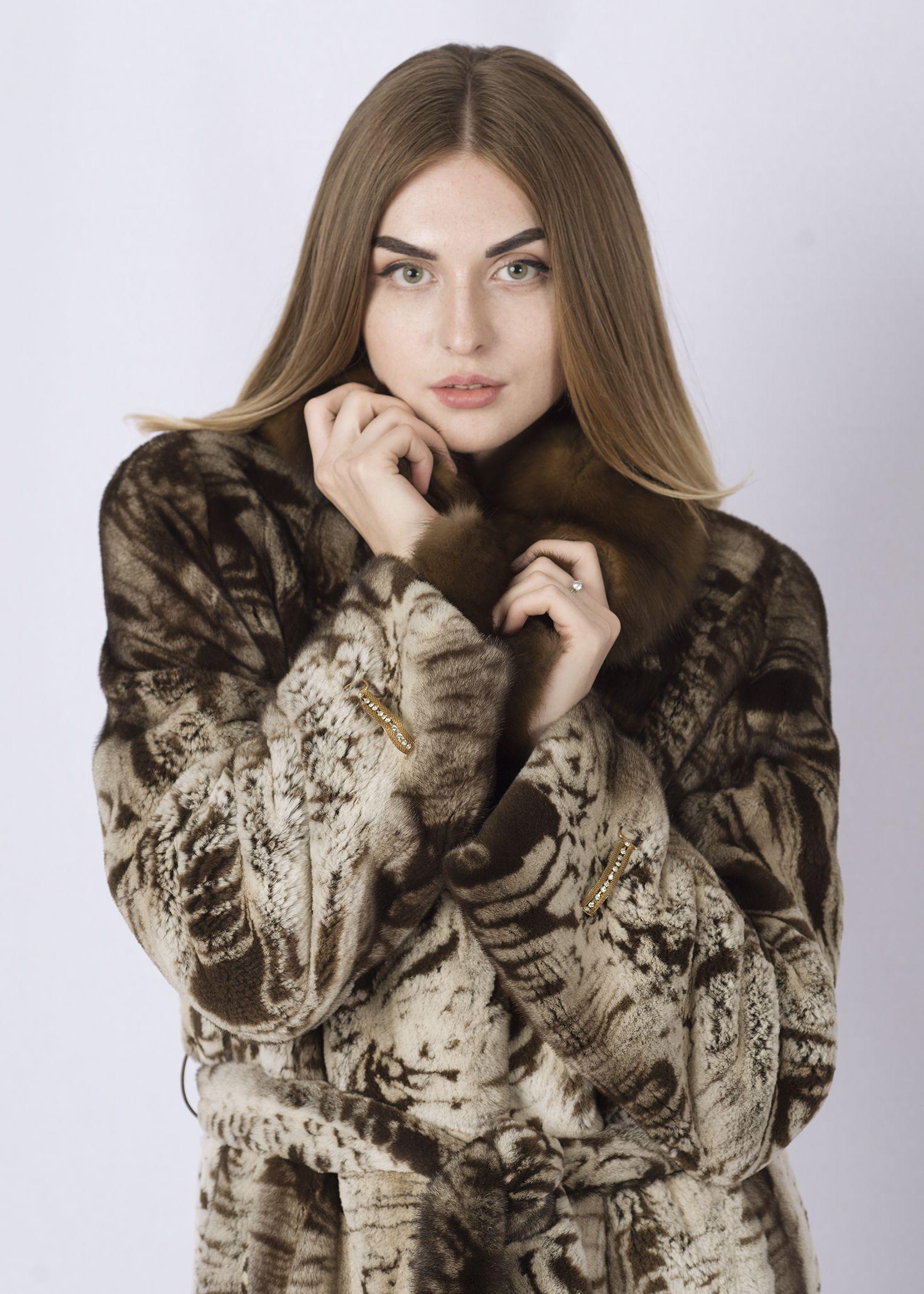 Шуба женская норковая SCR08 фото №1