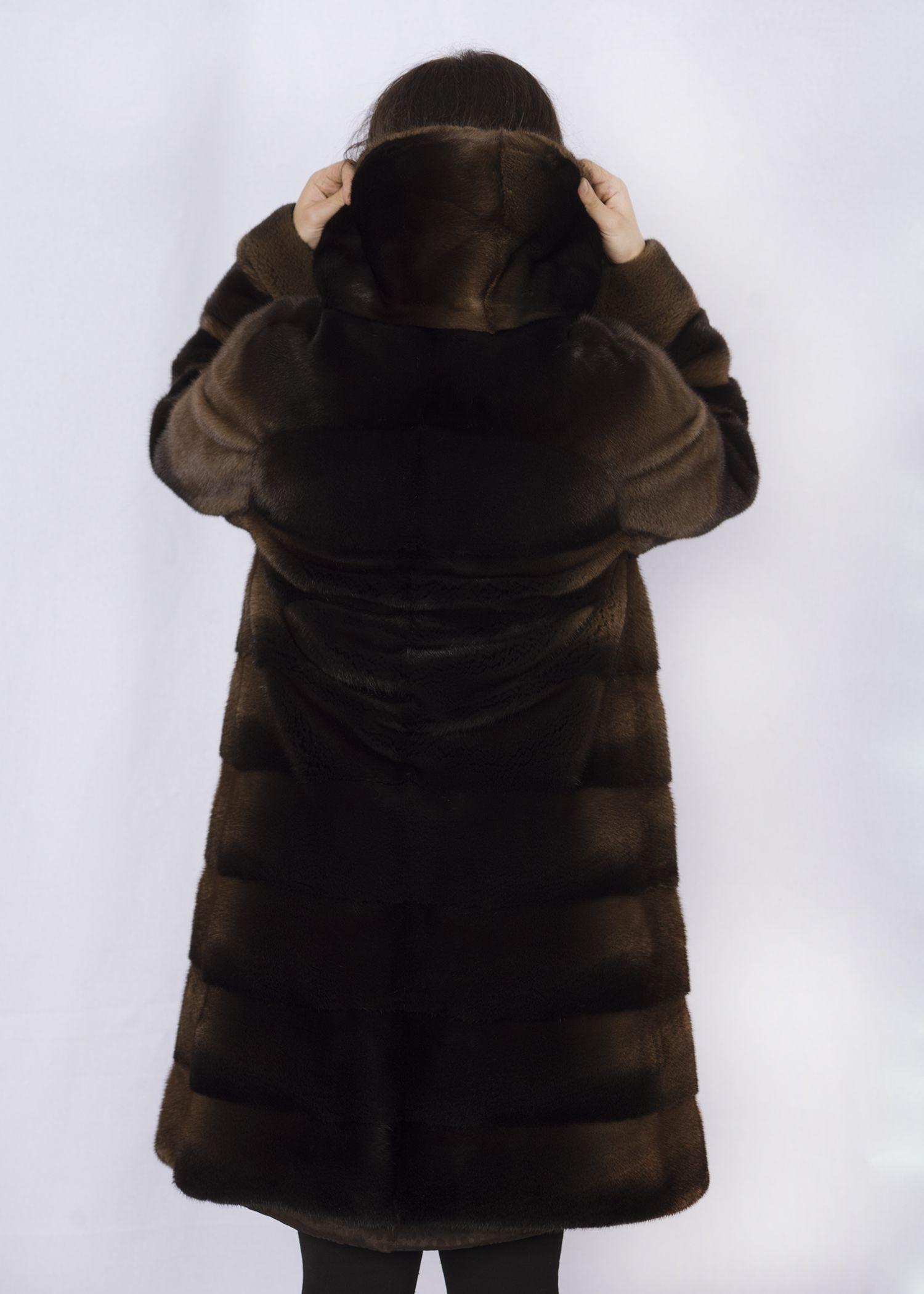Шуба женская норковая 29128В фото №1