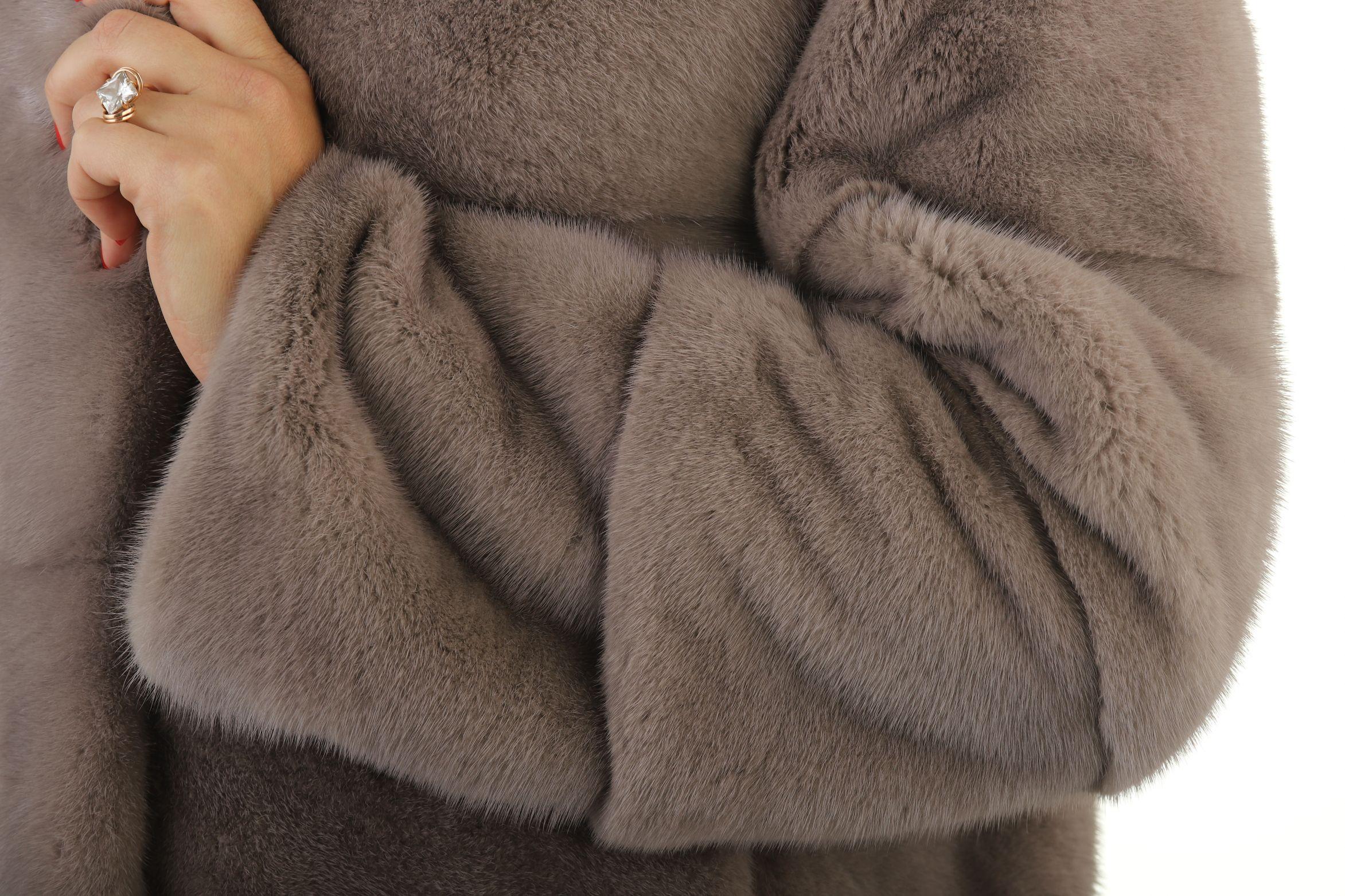 Шуба женская норковая 12216 фото №1