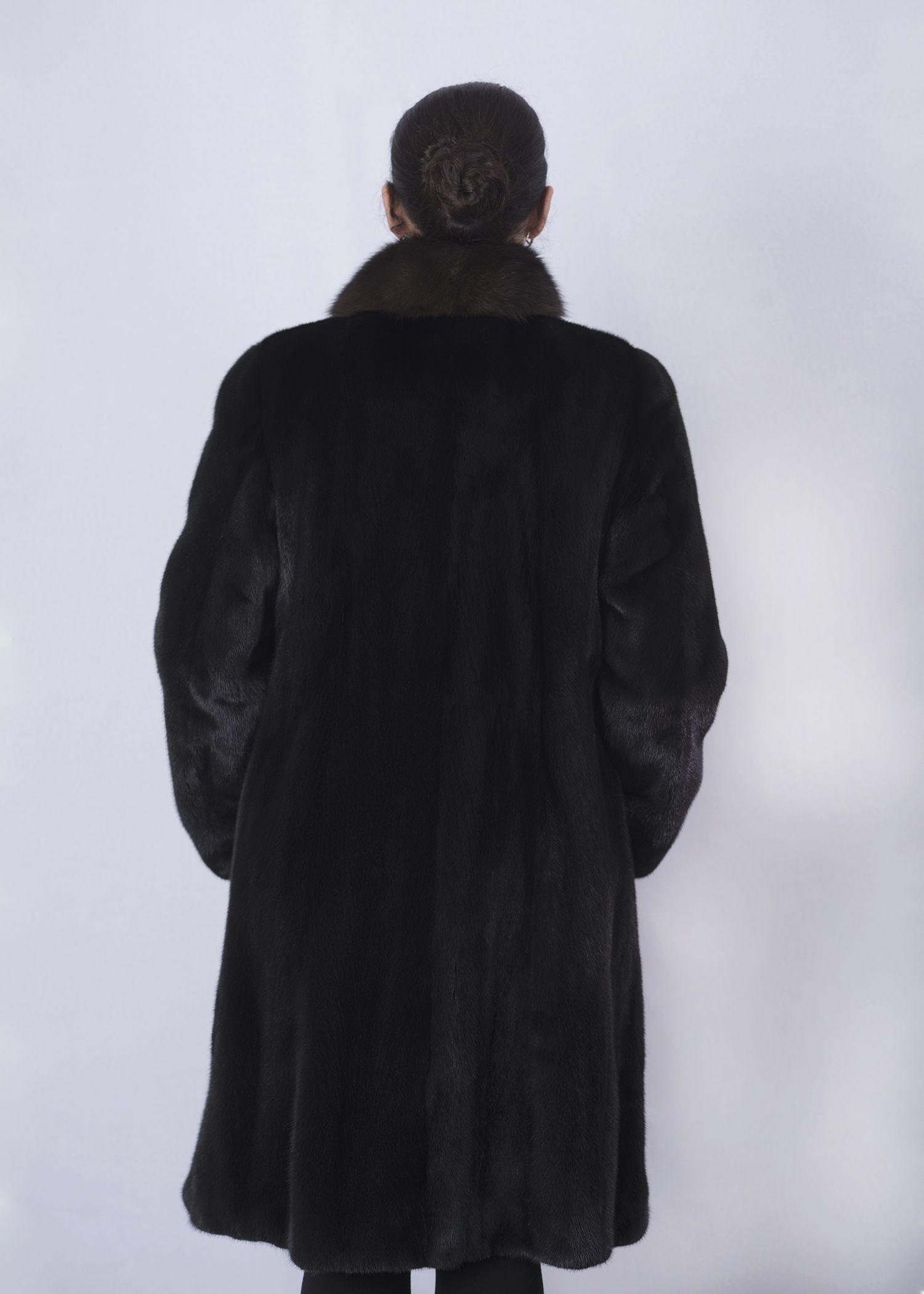 Шуба женская норковая 12578 фото №1