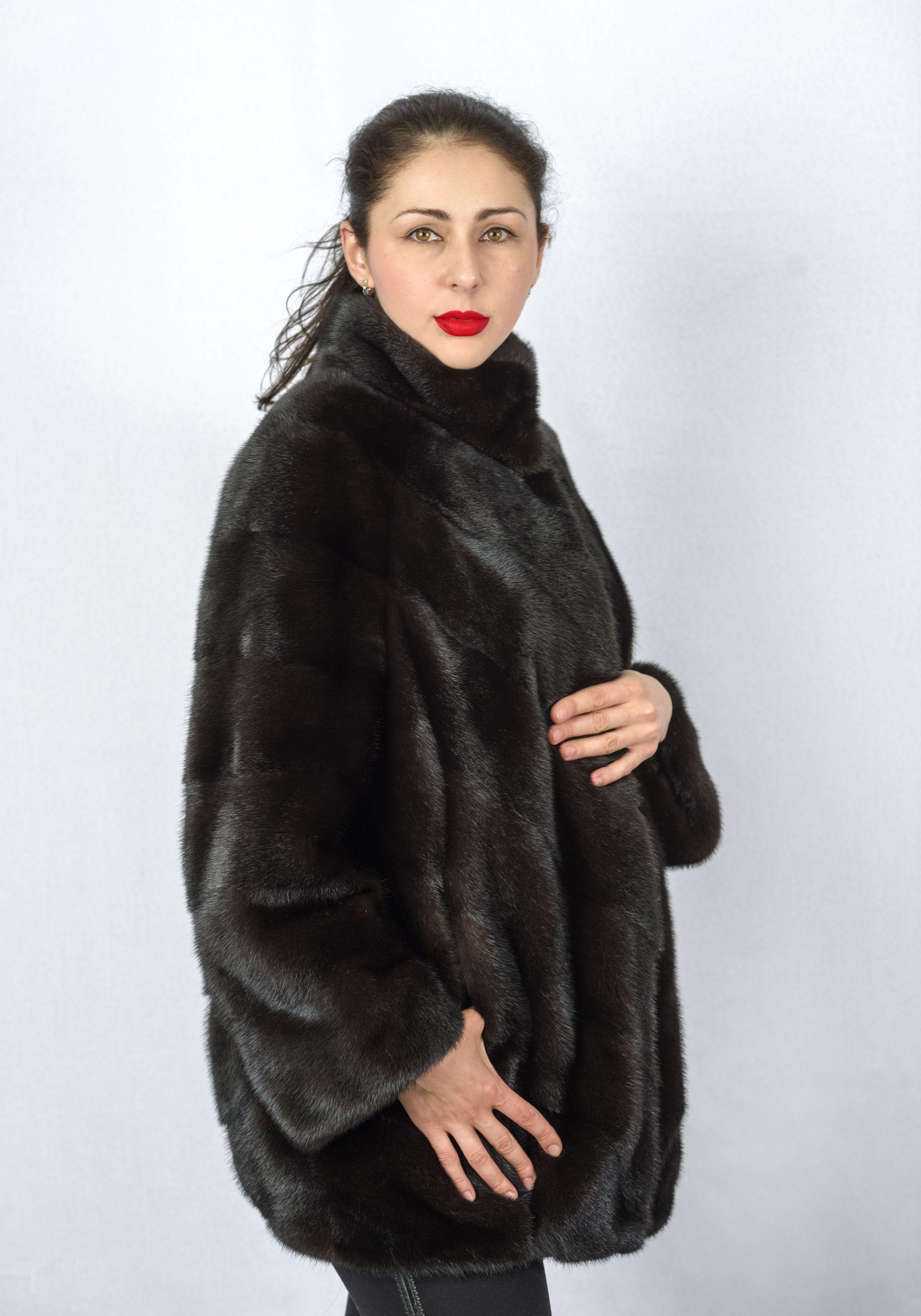 Шуба женская норковая 8936 фото №1