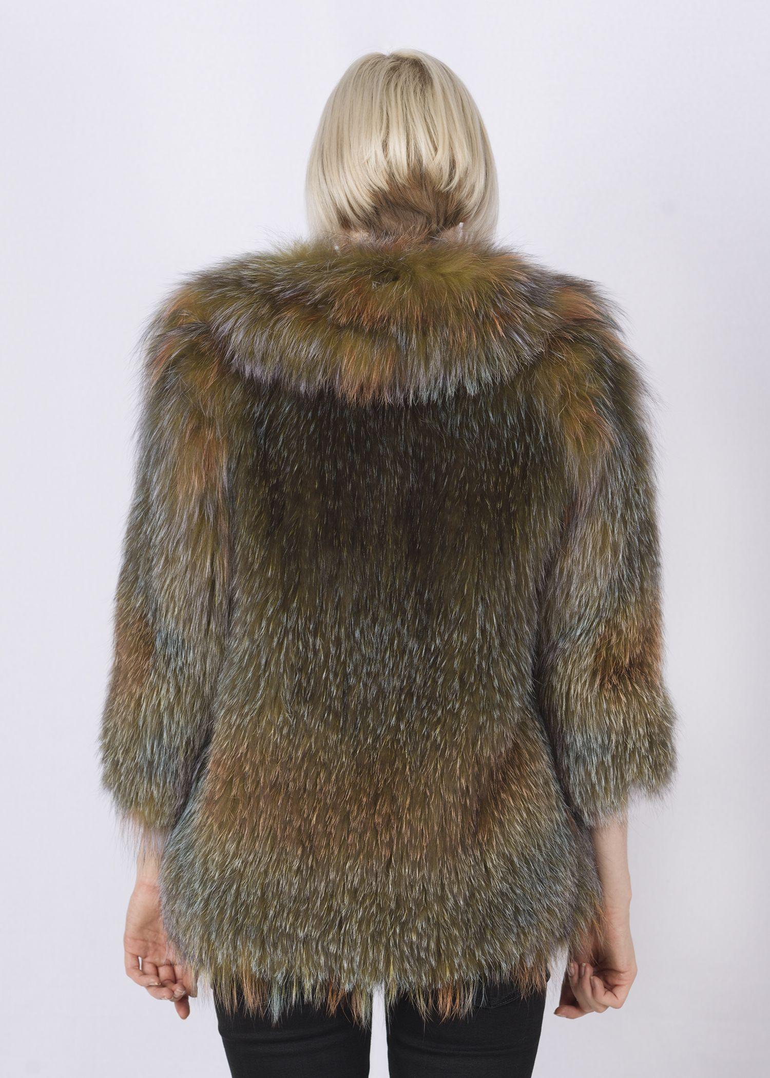 Кофта женская из меха лисы FOX-001-G фото №1