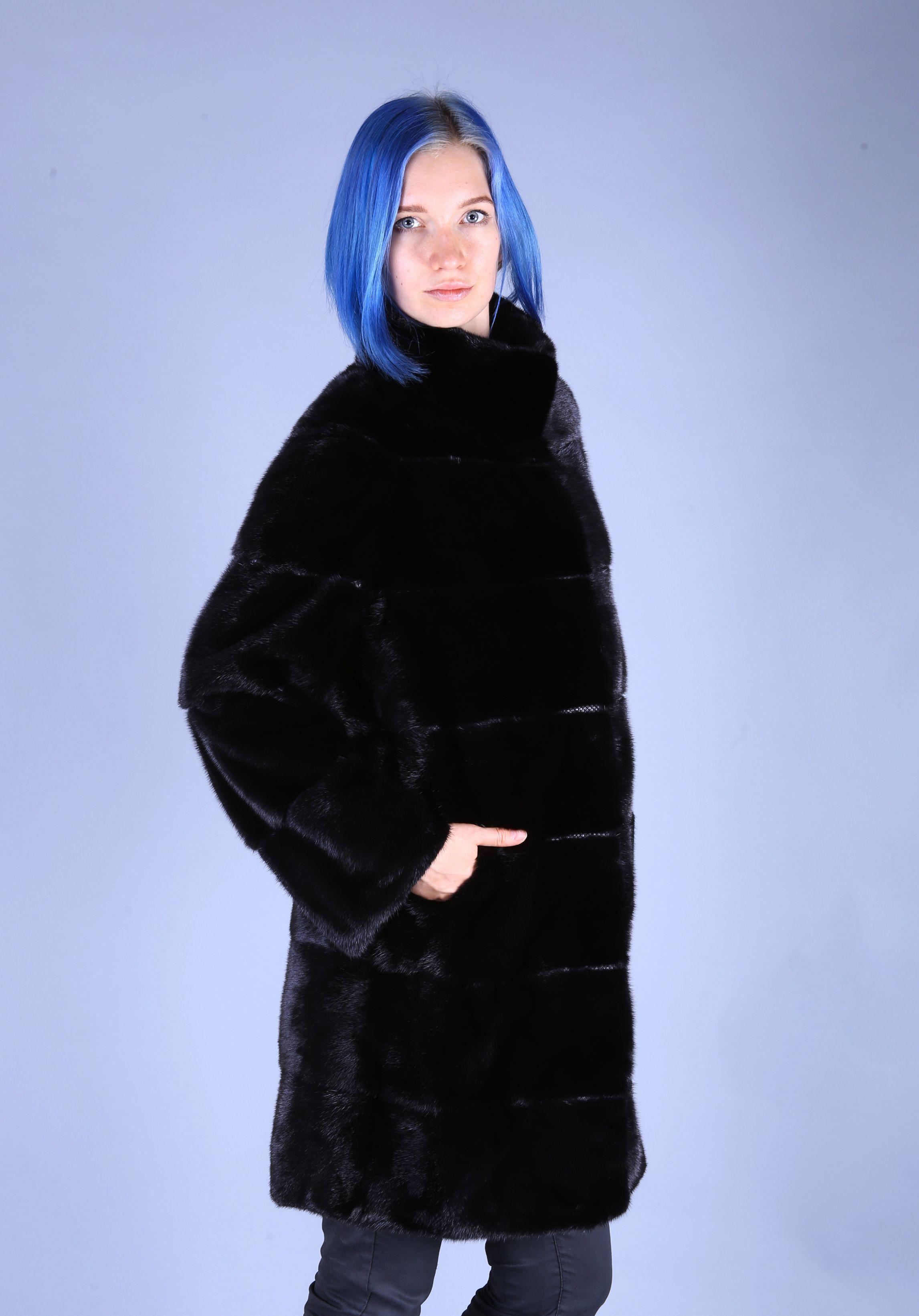 Шуба женская норковая 7540 фото №1