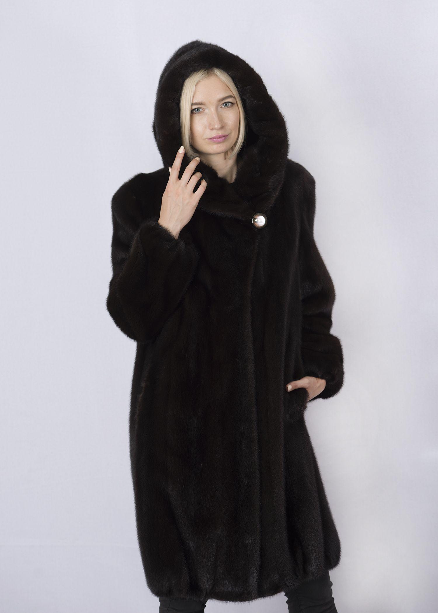 Шуба женская норковая 8305 фото №1