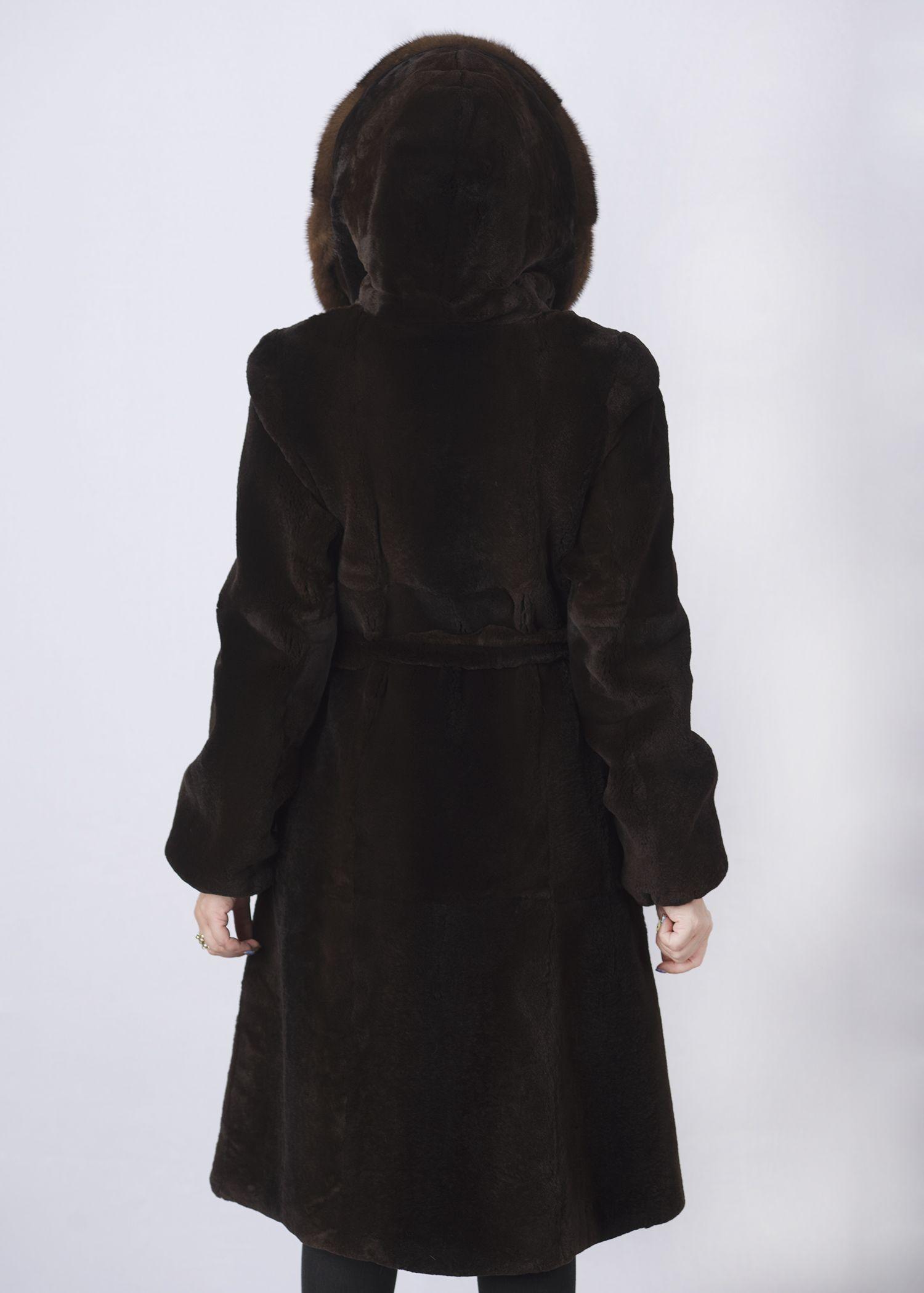 Шуба женская из бобрика(rex) 1228 фото №1