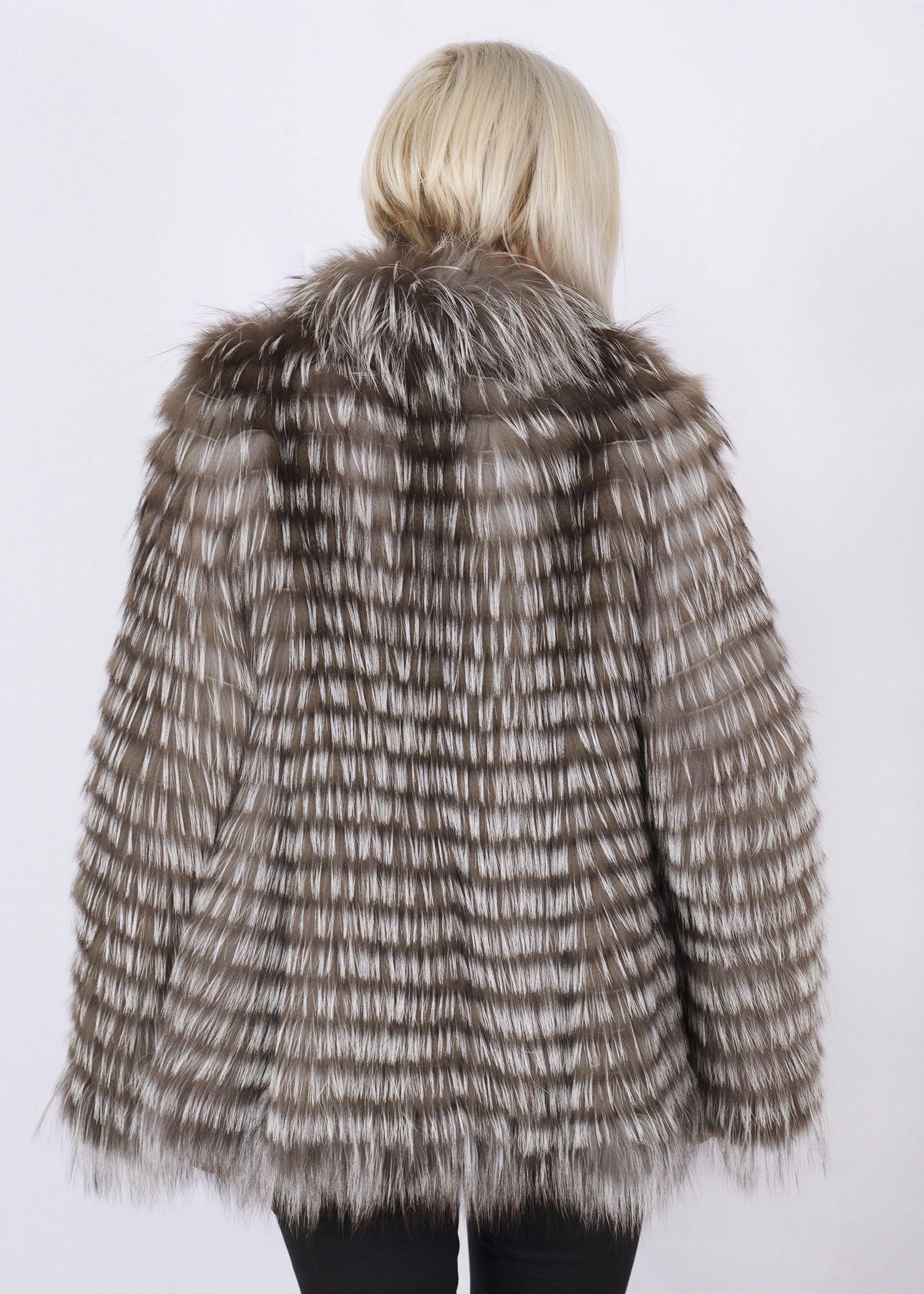 Кофта женская из меха лисы GFF023 фото №1
