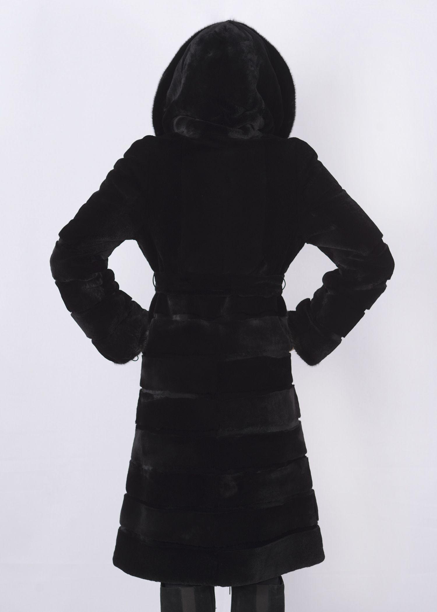 Шуба женская из бобрика(rex) ОА1205-3 фото №1