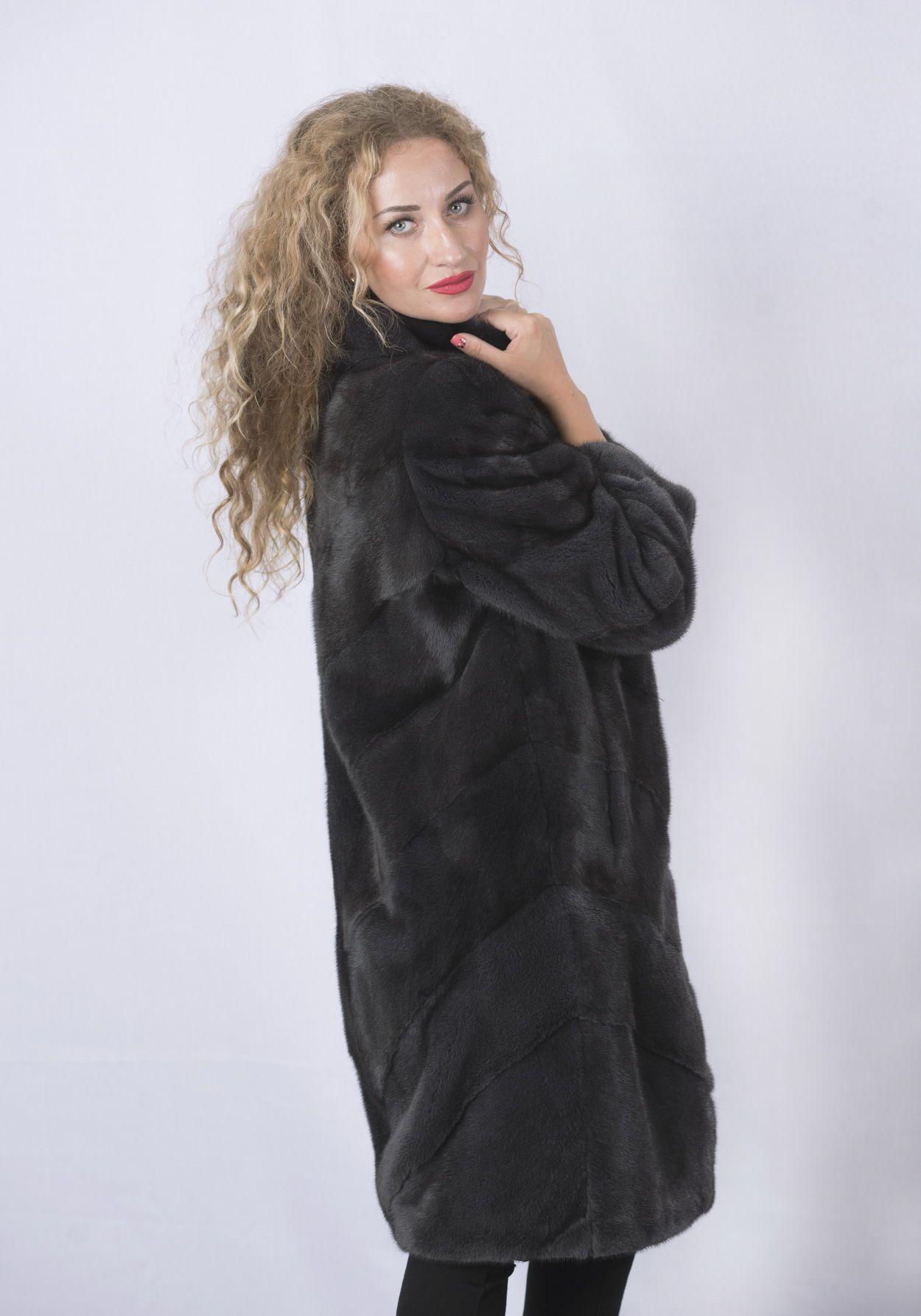 Шуба женская норковая 2896 фото №1