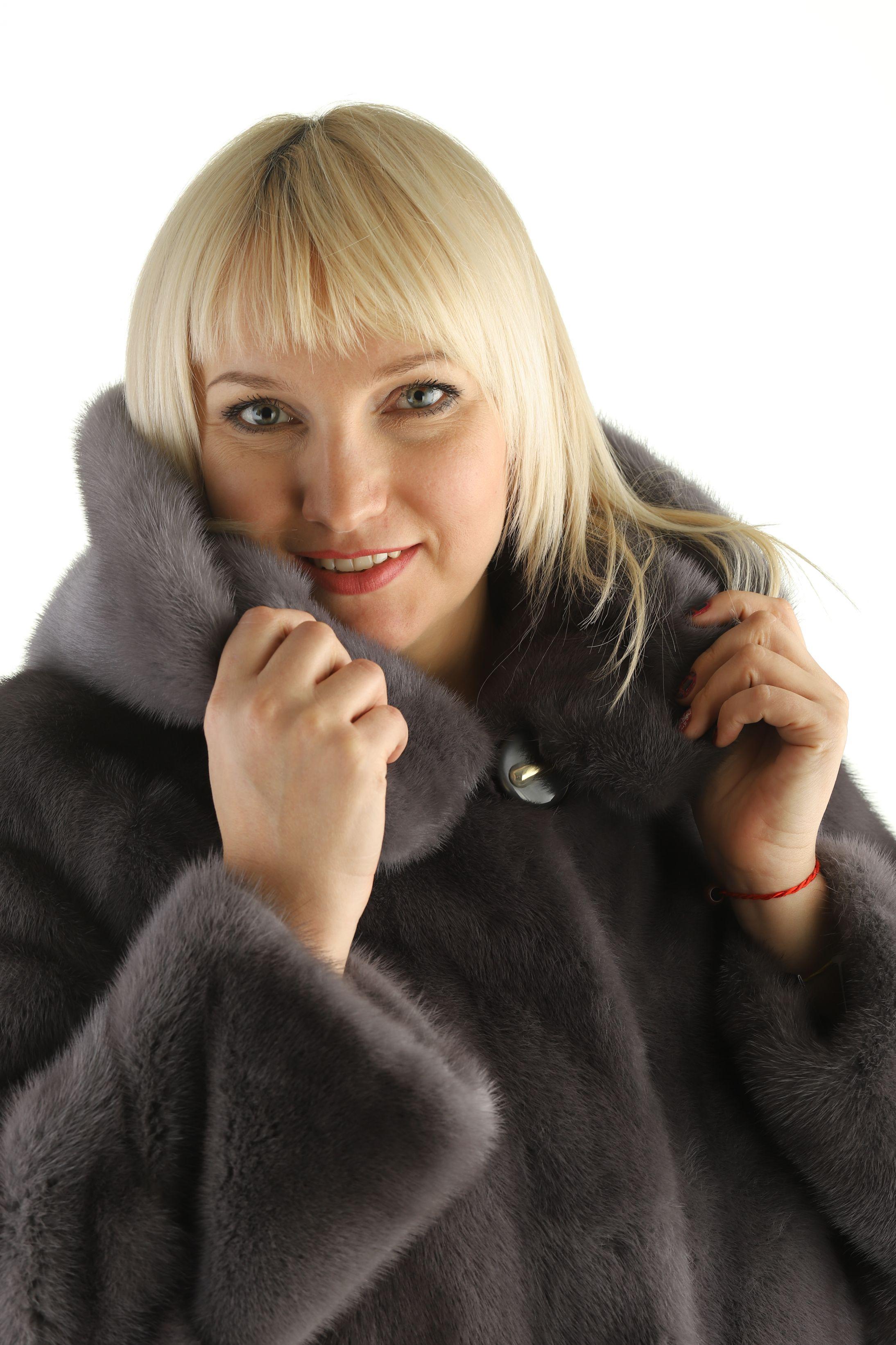 Шуба женская норковая 18-365 фото №1